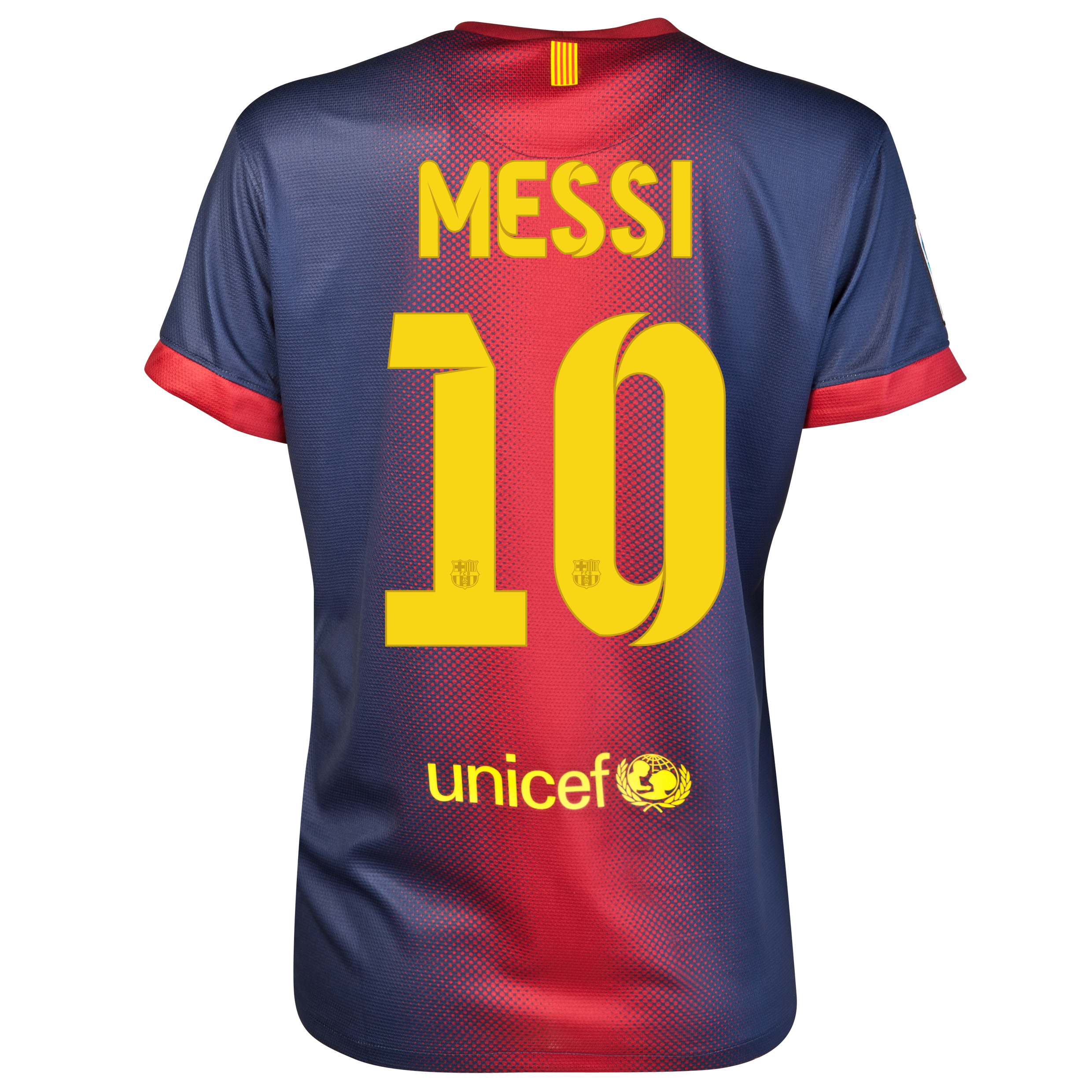 Barcelona Home Shirt 2012/13 - Womens with Messi 10 printing