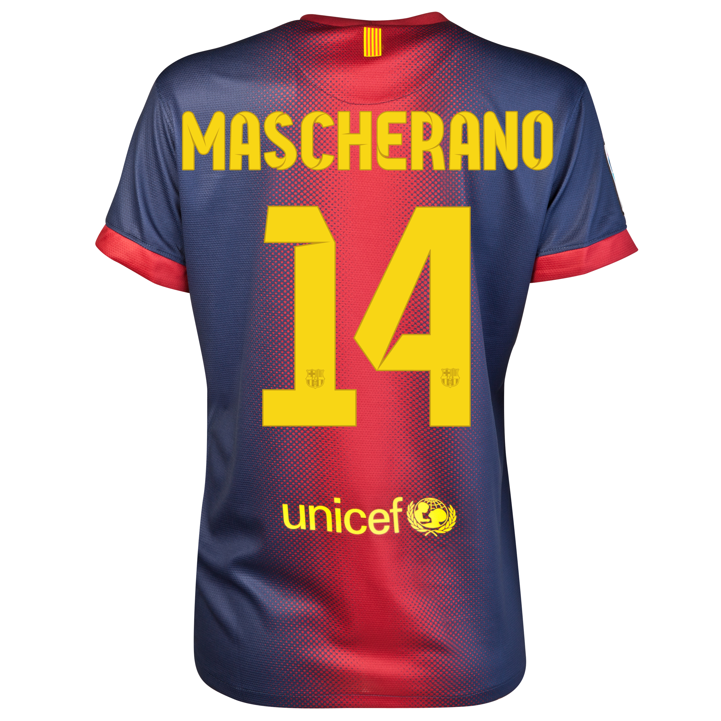 Barcelona Home Shirt 2012/13 - Womens with Mascherano 14 printing