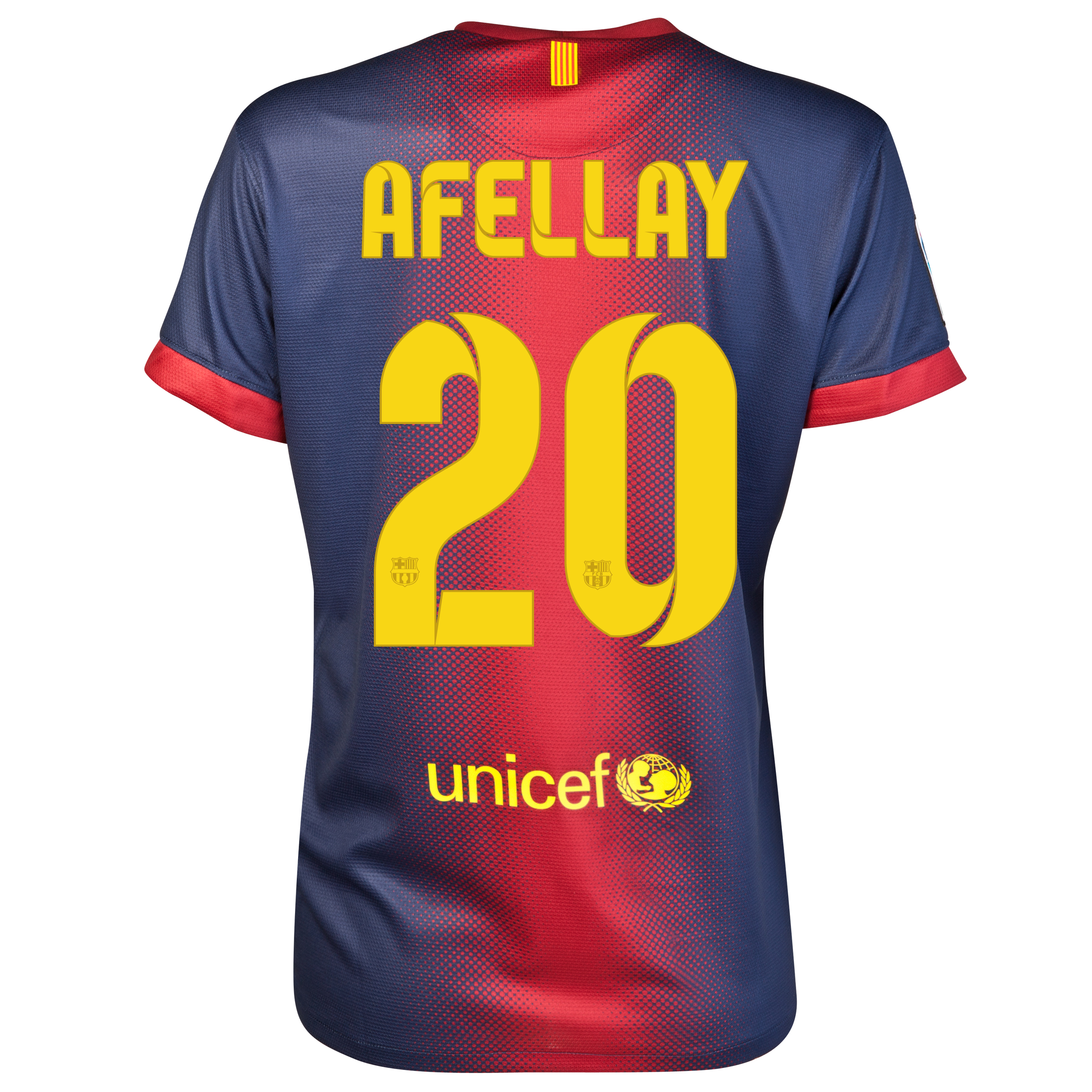 Barcelona Home Shirt 2012/13 - Womens with Afellay 20 printing
