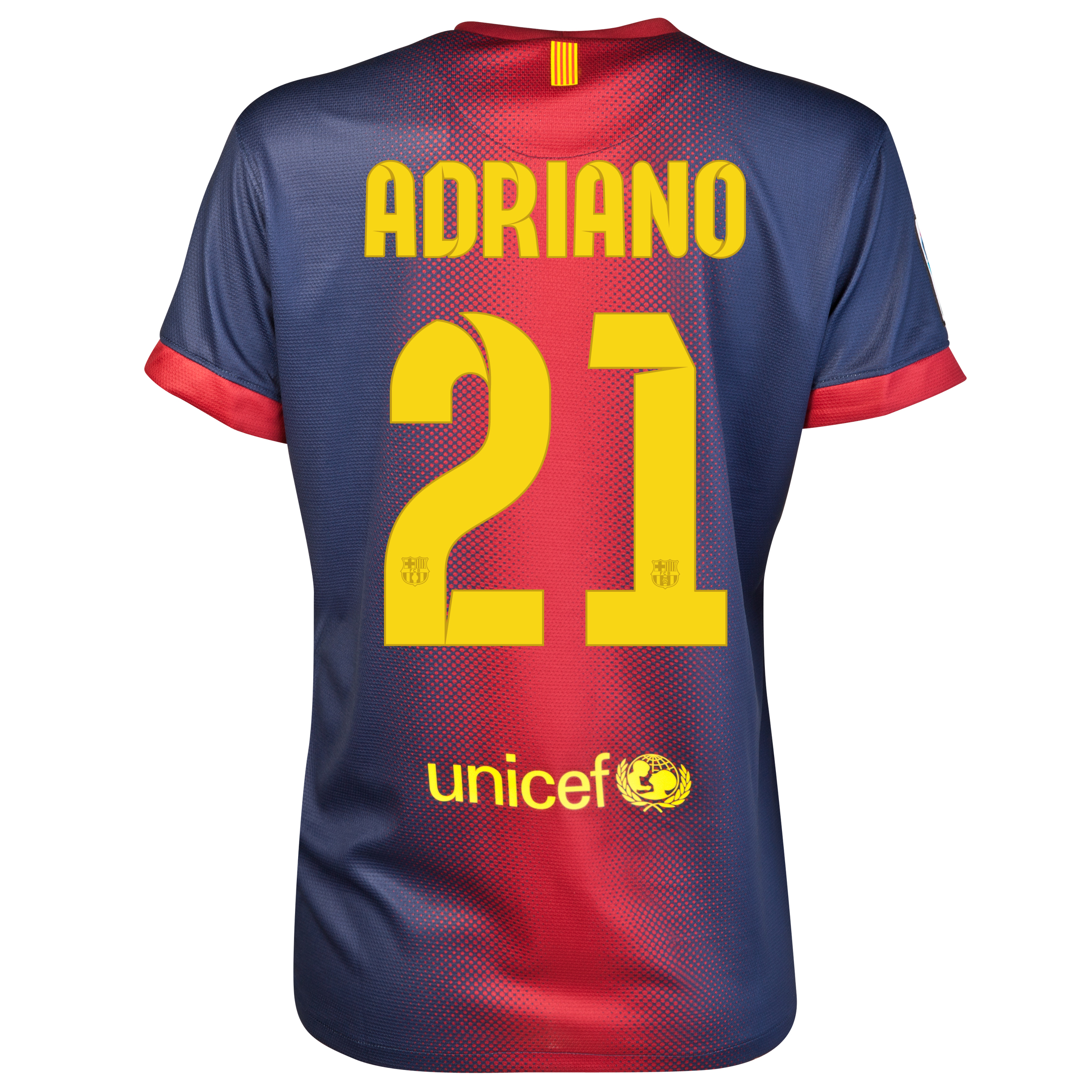 Barcelona Home Shirt 2012/13 - Womens with Adriano 21 printing