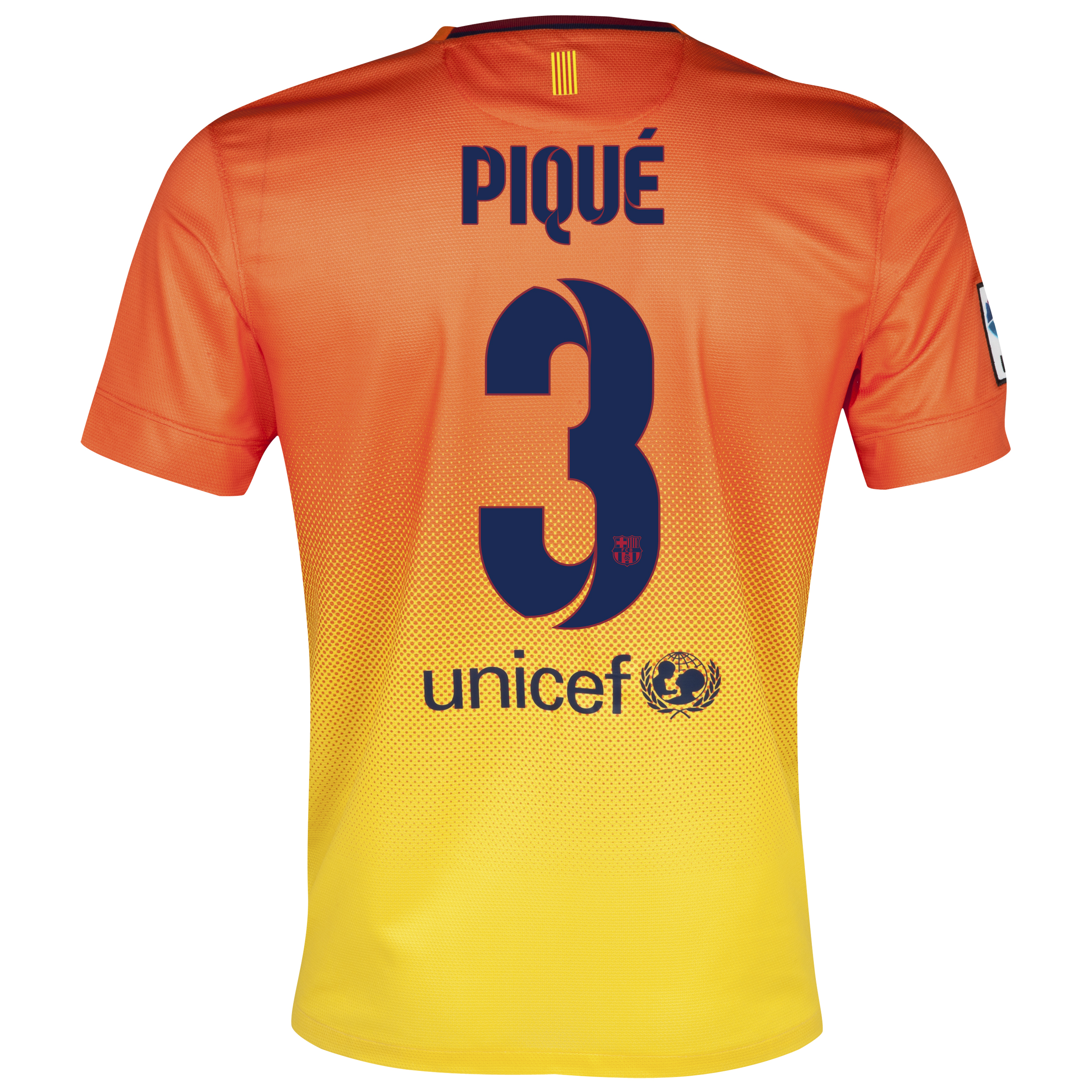 Barcelona Away Shirt 2012/13 with Pique 3 printing