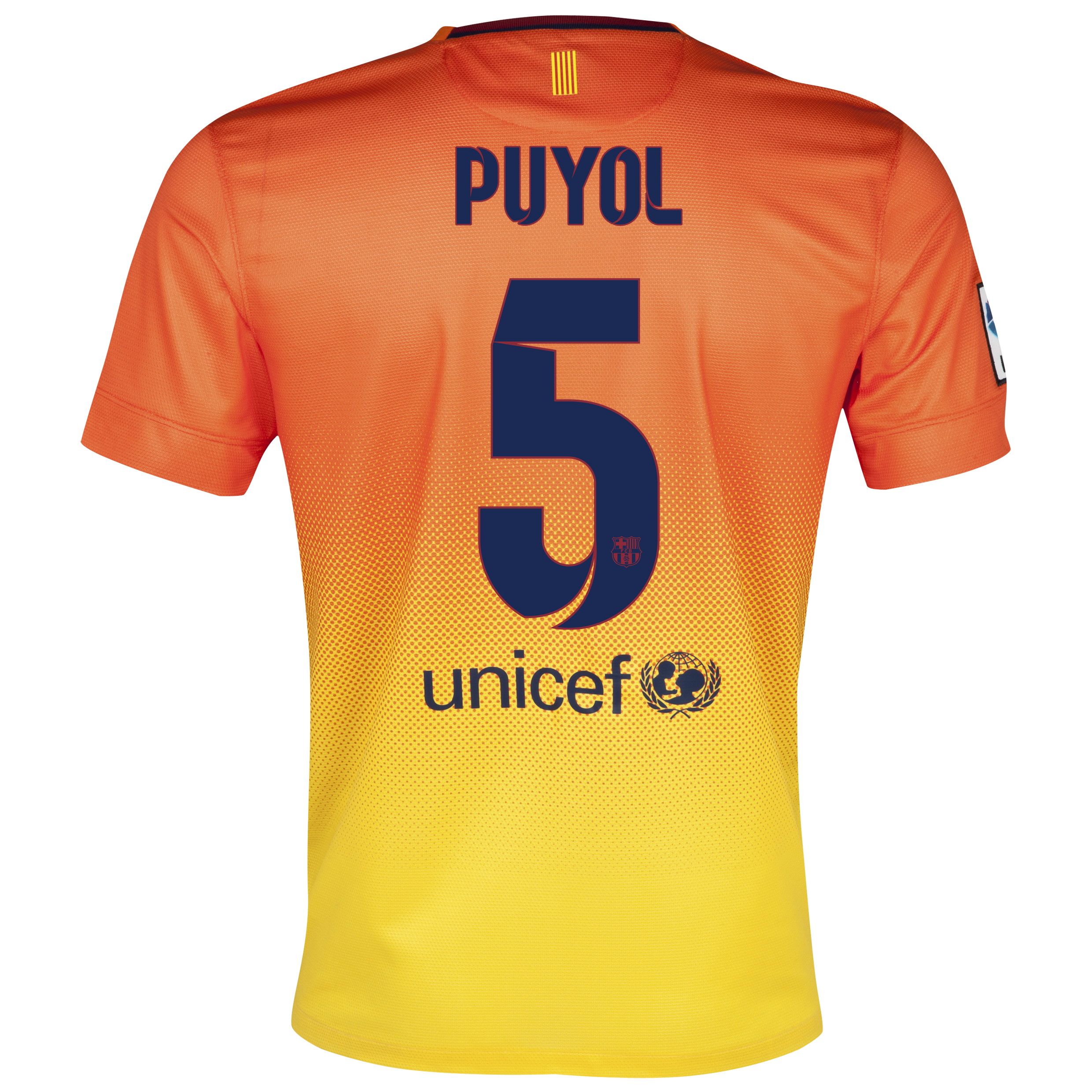 Barcelona Away Shirt 2012/13 with Puyol 5 printing