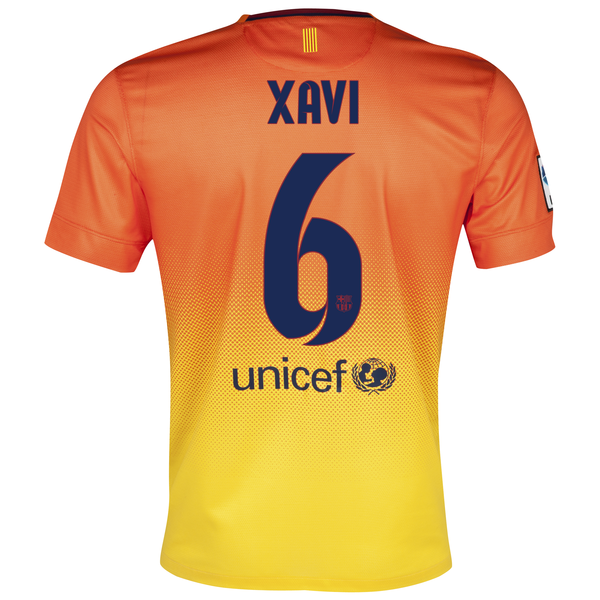 Barcelona Away Shirt 2012/13 with Xavi 6 printing