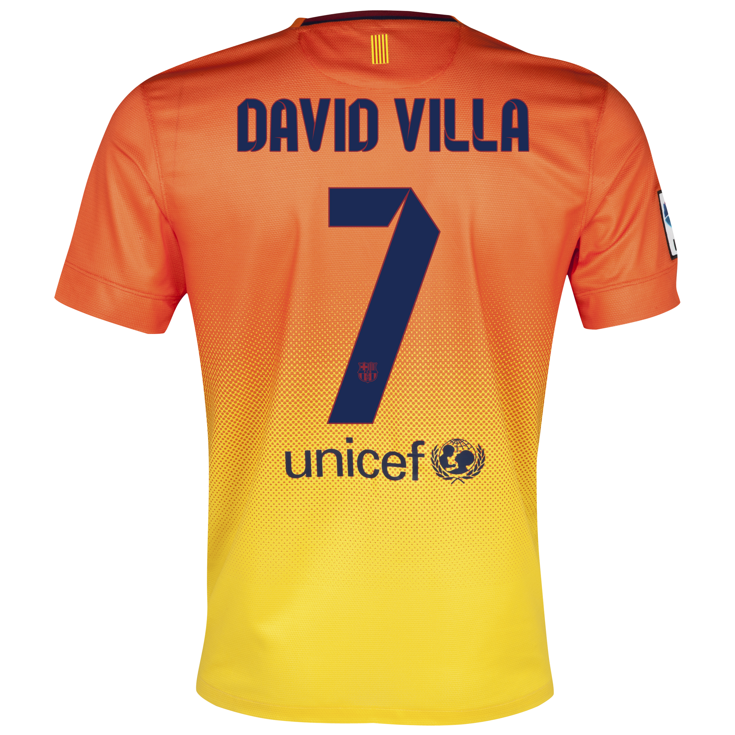 Barcelona Away Shirt 2012/13 with David Villa 7 printing