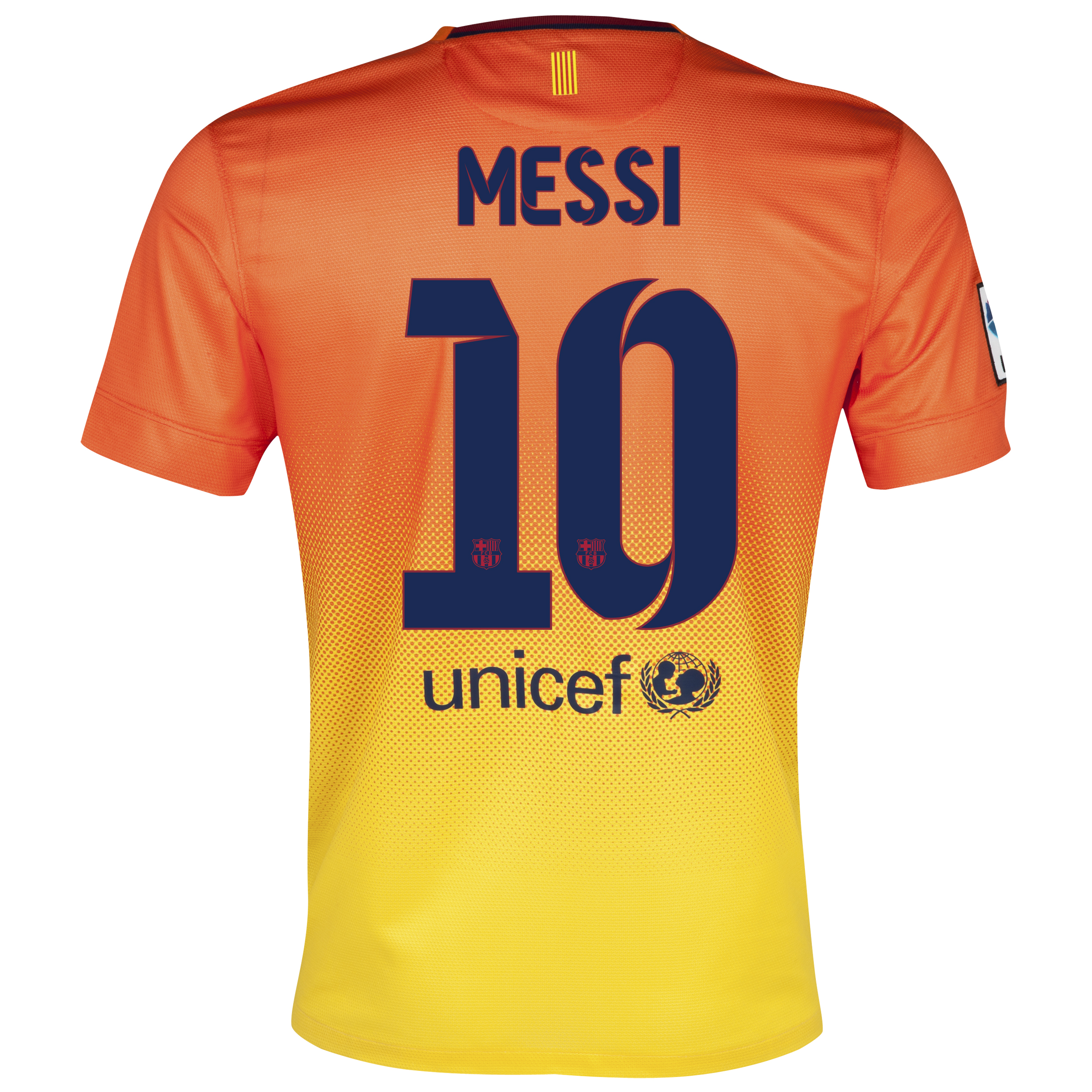 Barcelona Away Shirt 2012/13 with Messi 10 printing