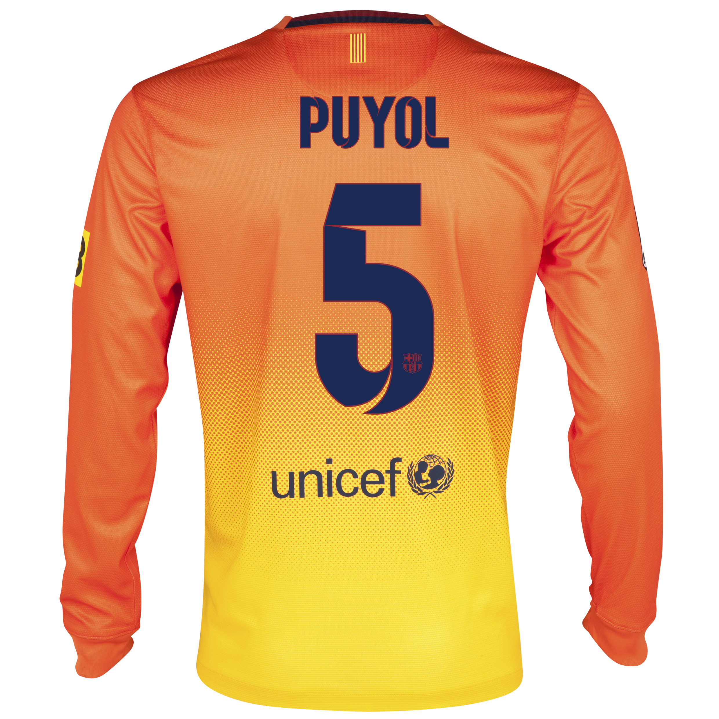 Barcelona Away Shirt 2012/13 - Long Sleeved with Puyol 5 printing