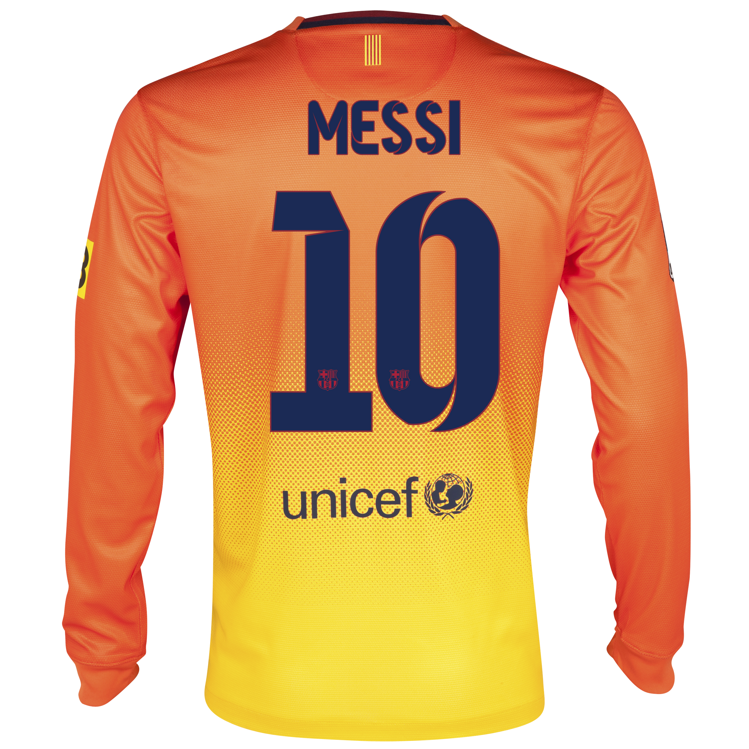 Barcelona Away Shirt 2012/13 - Long Sleeved with Messi 10 printing