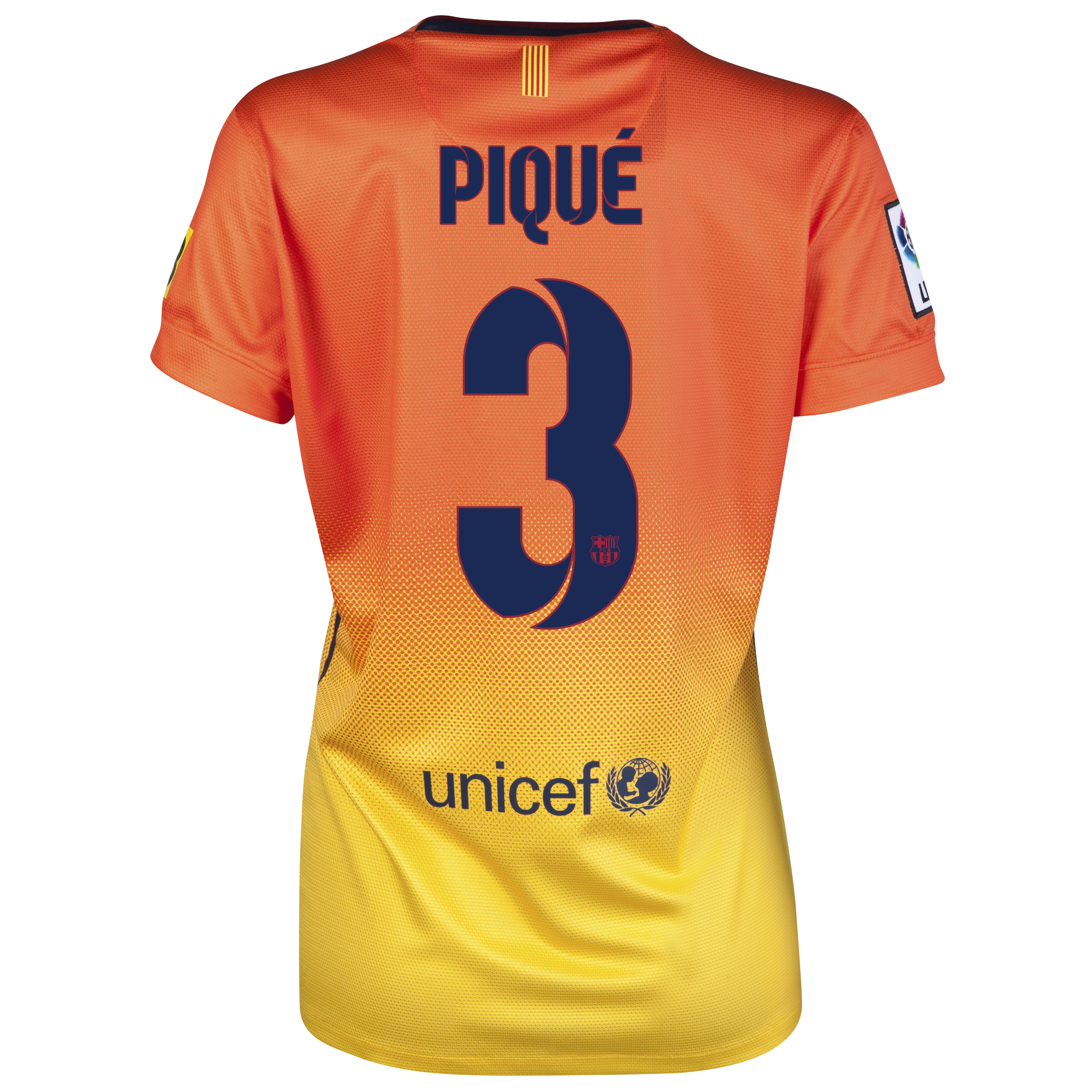 Barcelona Away Shirt 2012/13 -  Womens with Pique 3 printing