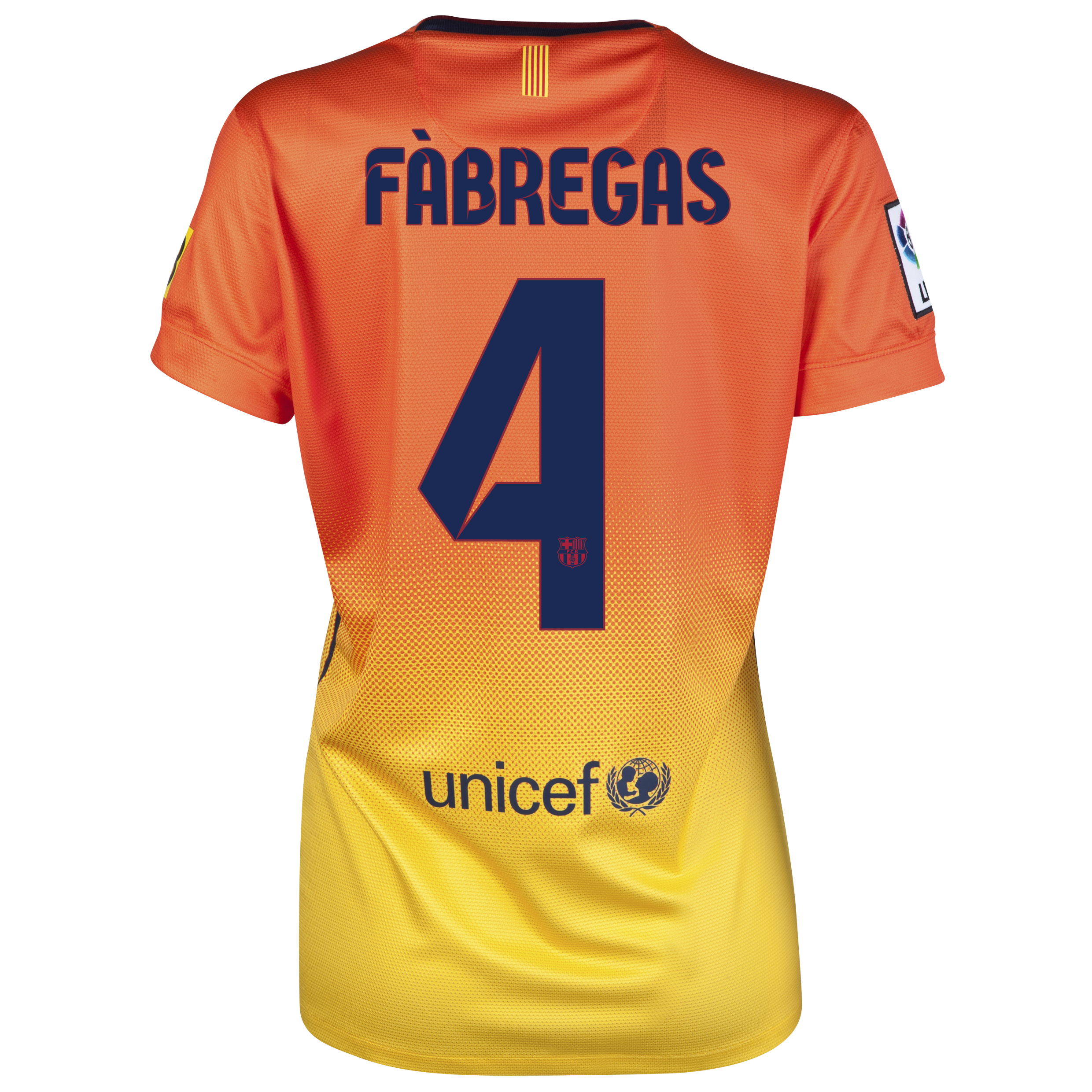 Barcelona Away Shirt 2012/13 -  Womens with Fabregas 4 printing