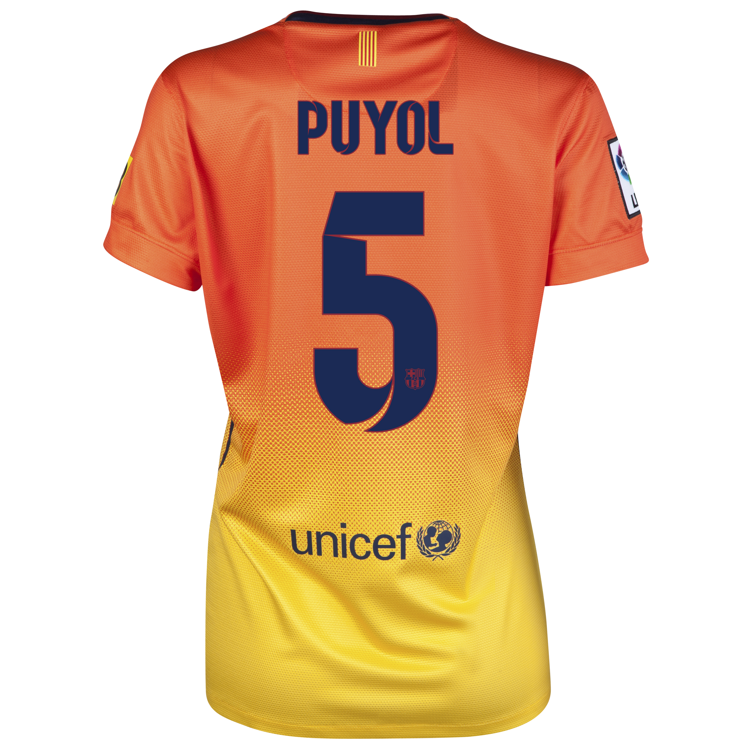 Barcelona Away Shirt 2012/13 -  Womens with Puyol 5 printing