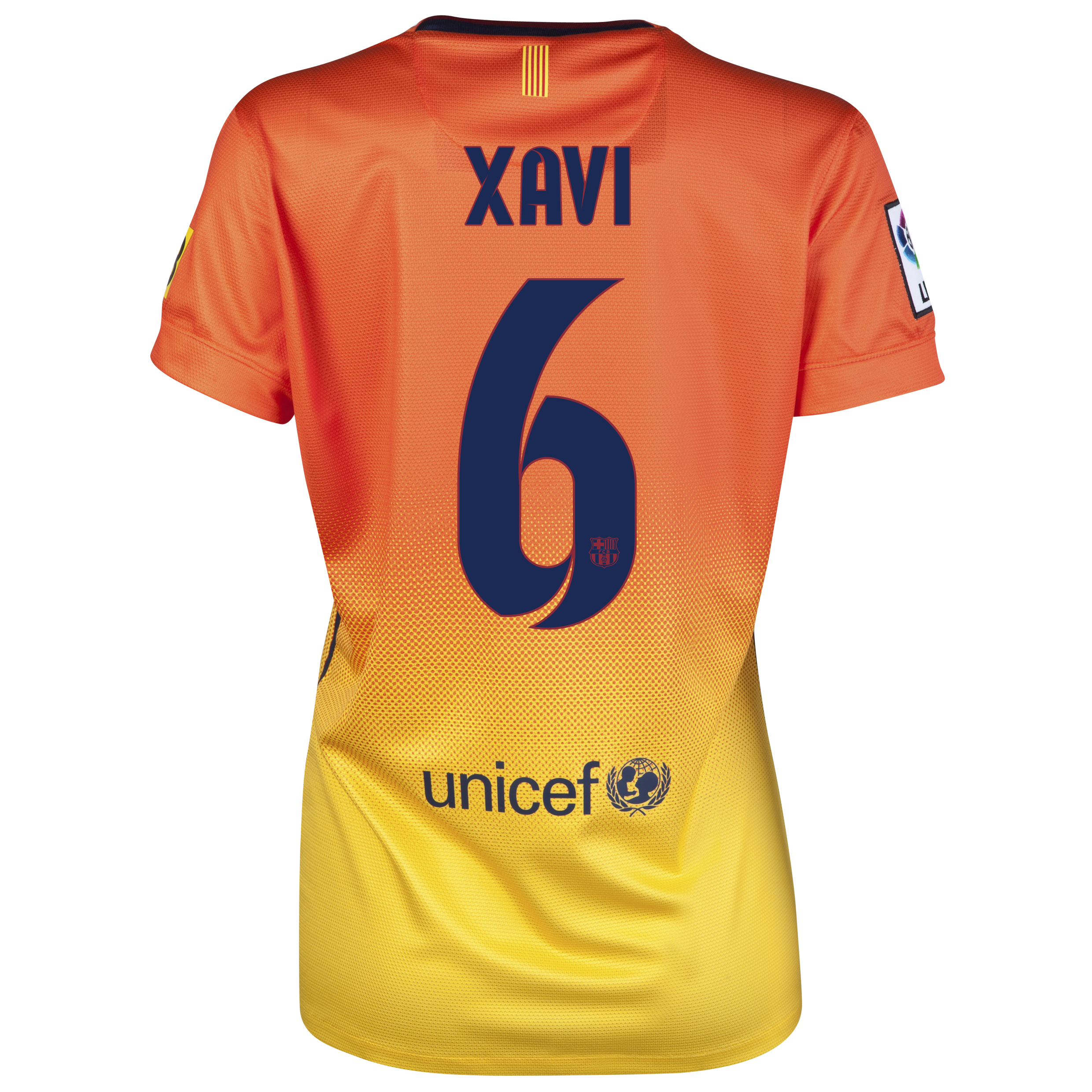 Barcelona Away Shirt 2012/13 -  Womens with Xavi 6 printing