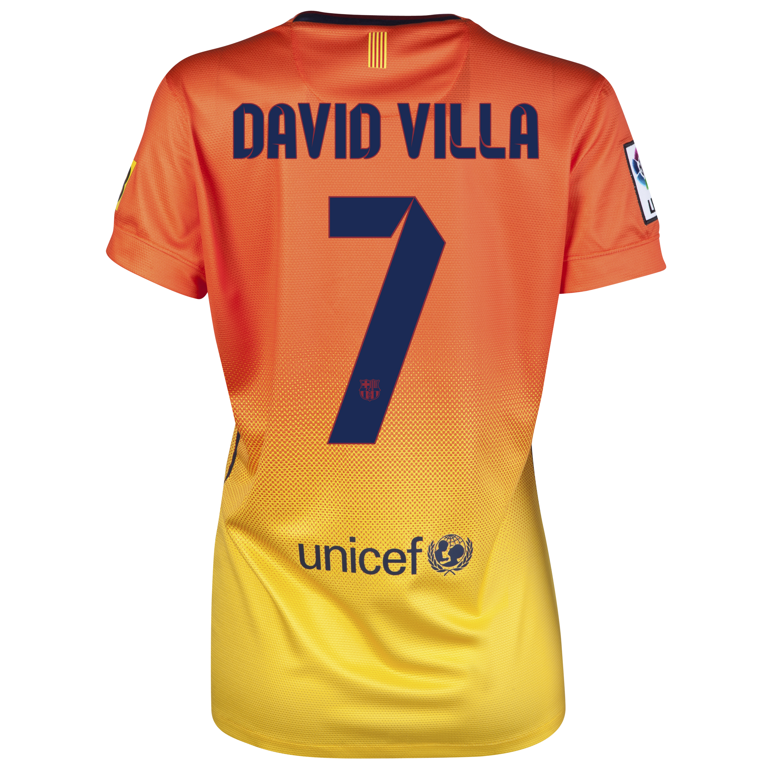 Barcelona Away Shirt 2012/13 -  Womens with David Villa 7 printing