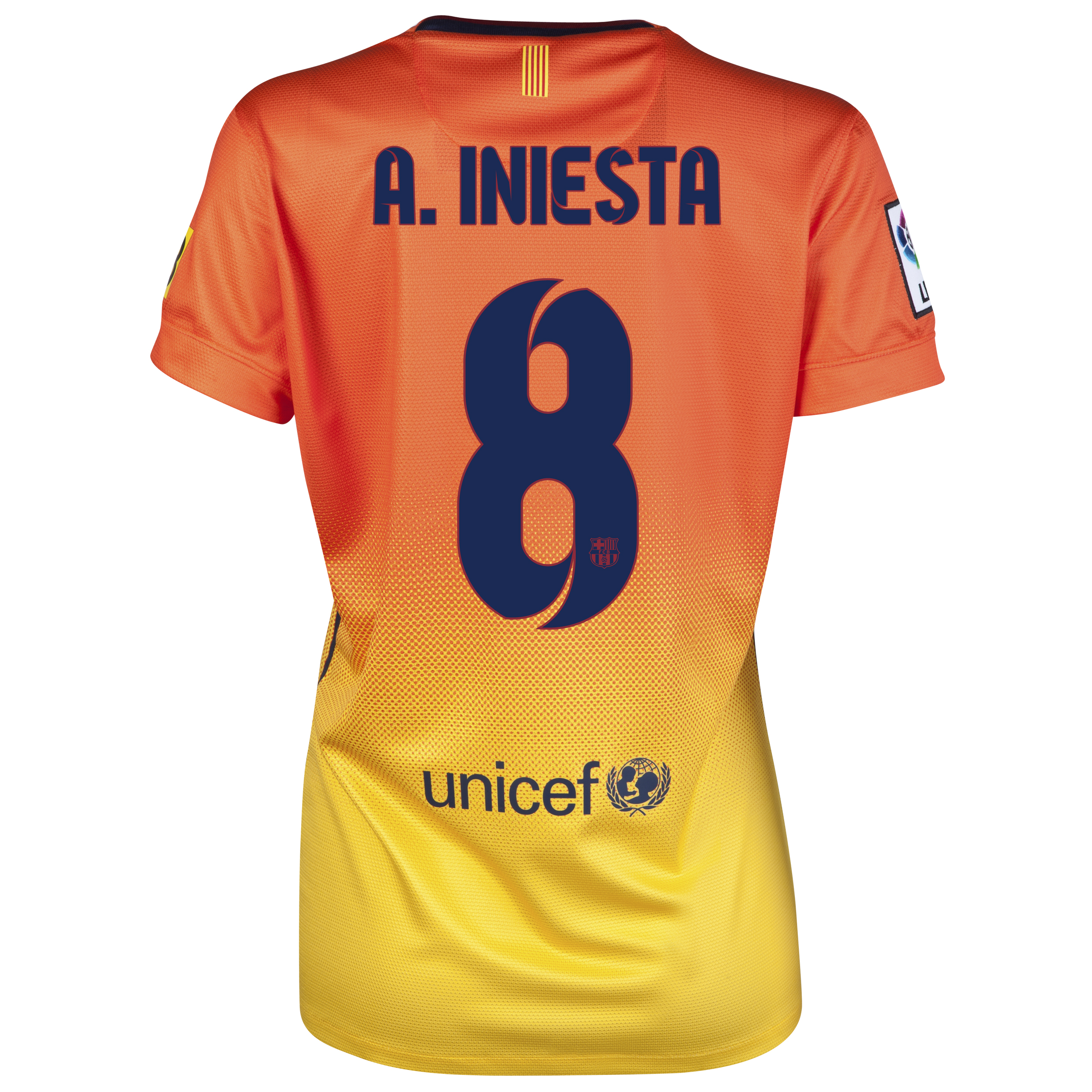 Barcelona Away Shirt 2012/13 -  Womens with A. Iniesta  8 printing