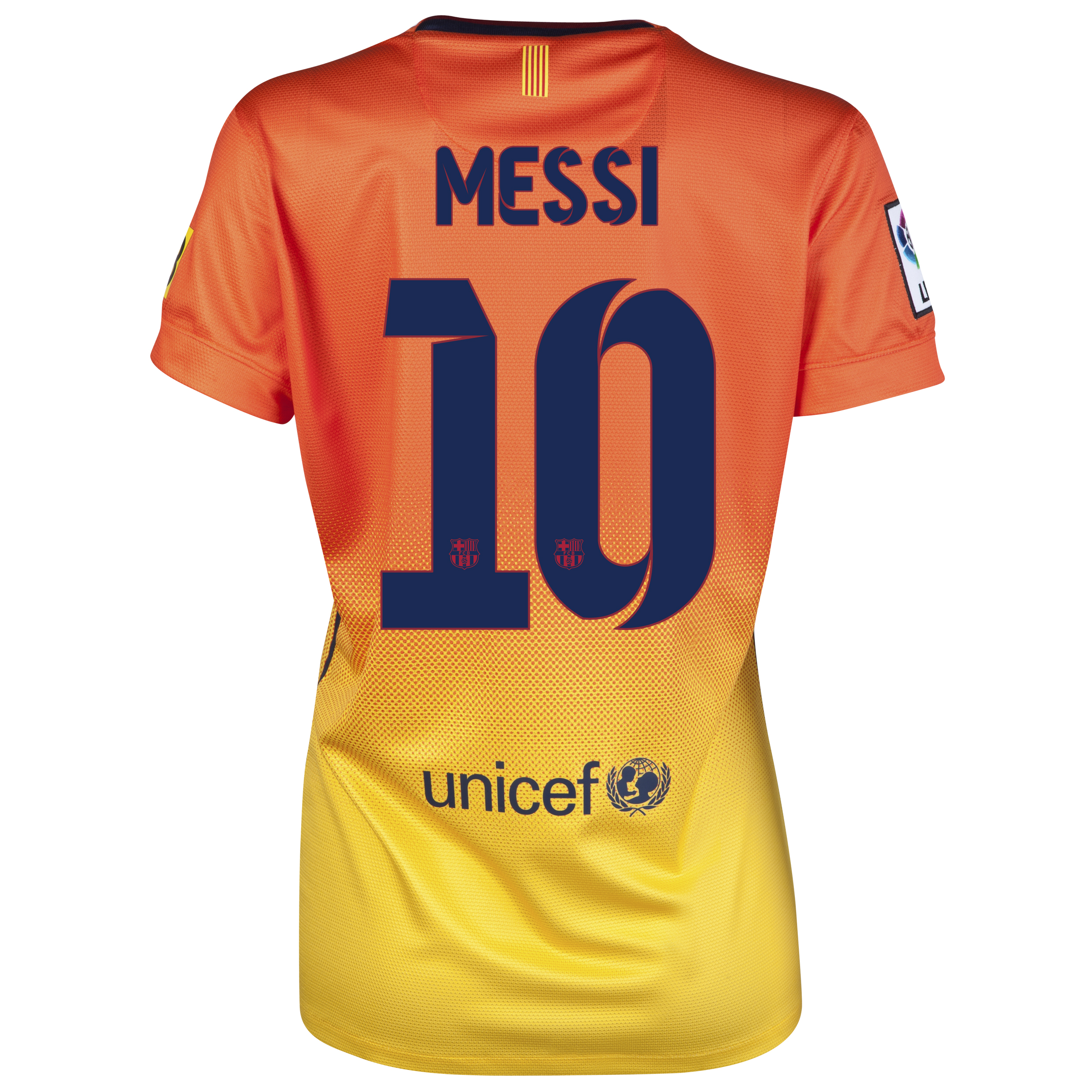 Barcelona Away Shirt 2012/13 -  Womens with Messi 10 printing