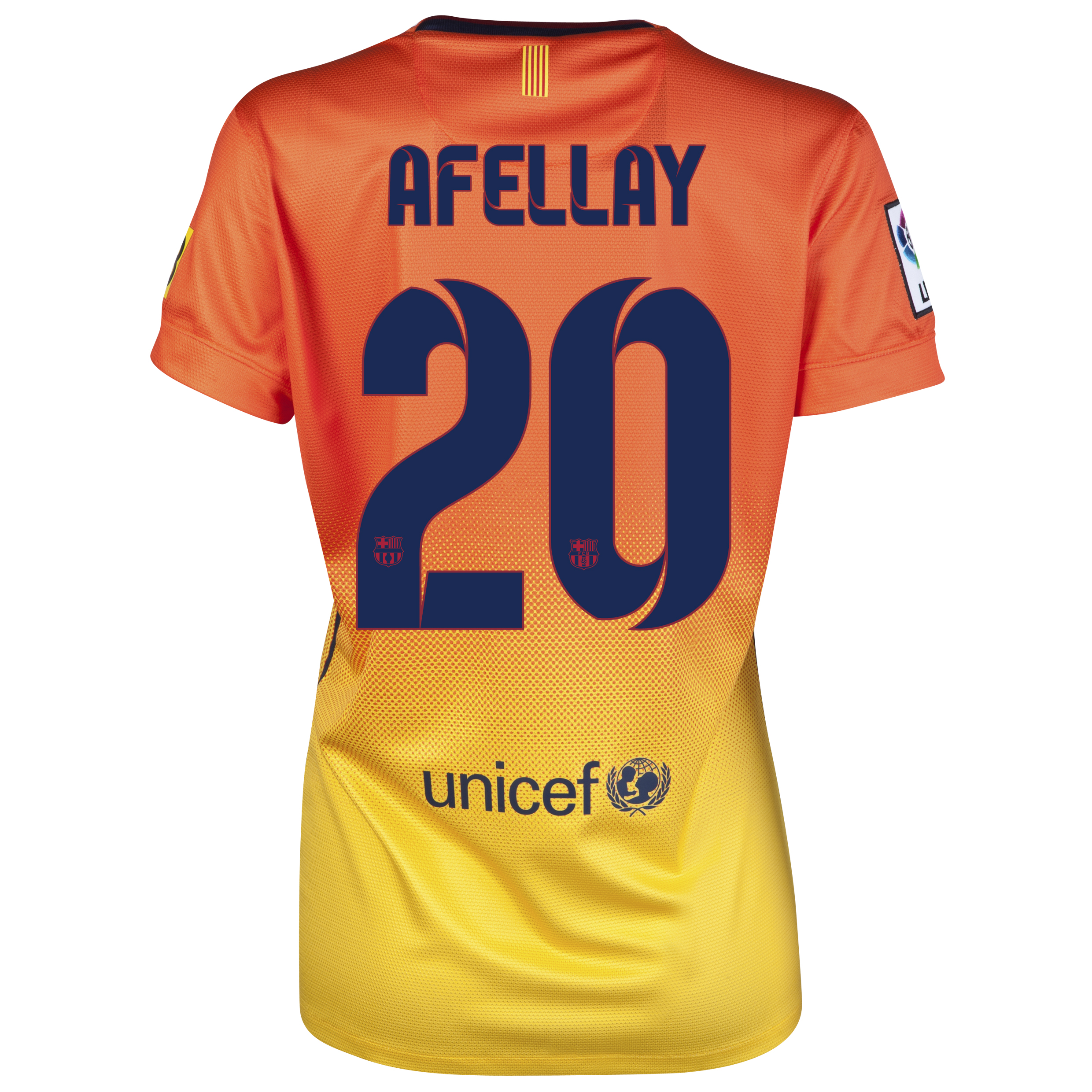 Barcelona Away Shirt 2012/13 -  Womens with Afellay 20 printing