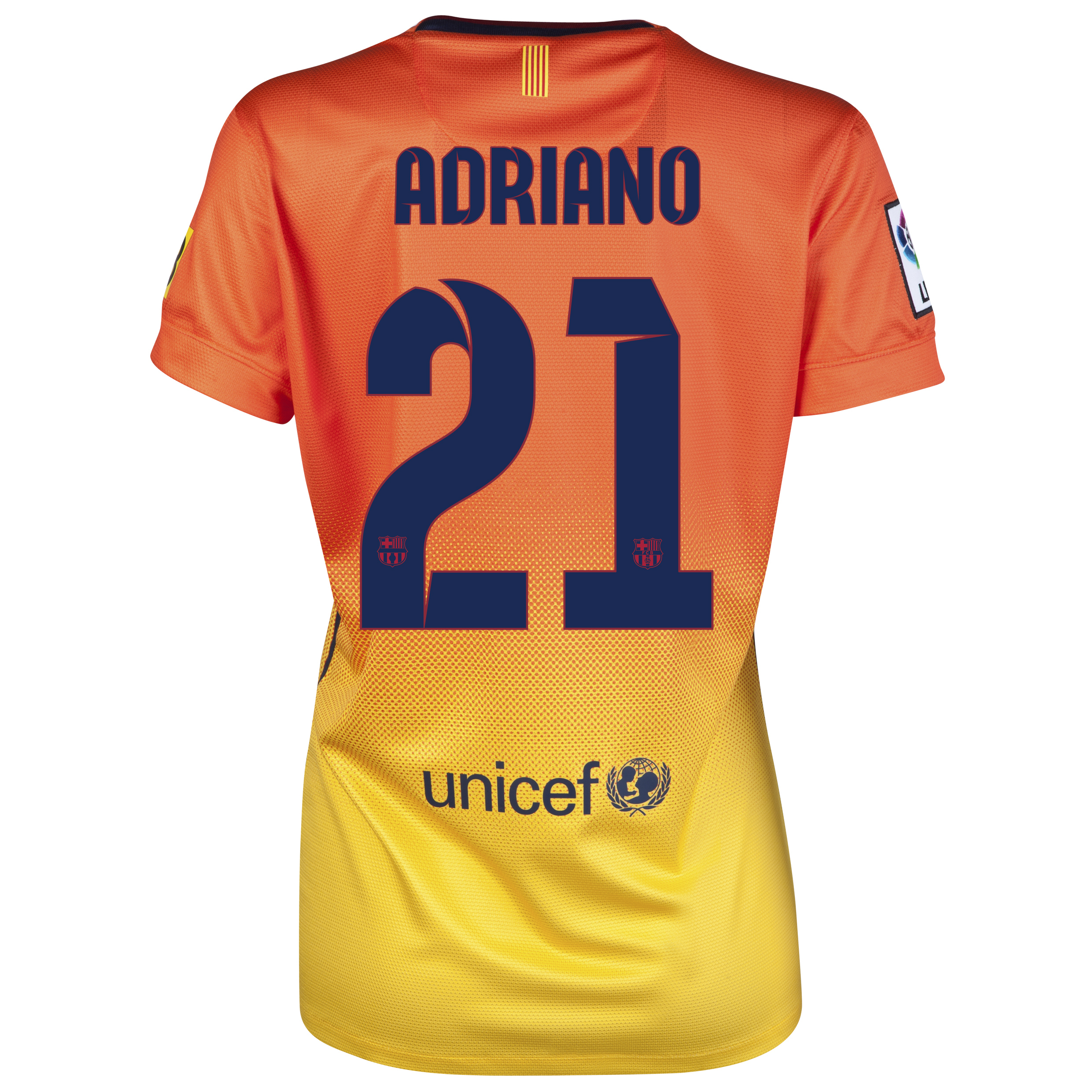 Barcelona Away Shirt 2012/13 -  Womens with Adriano 21 printing