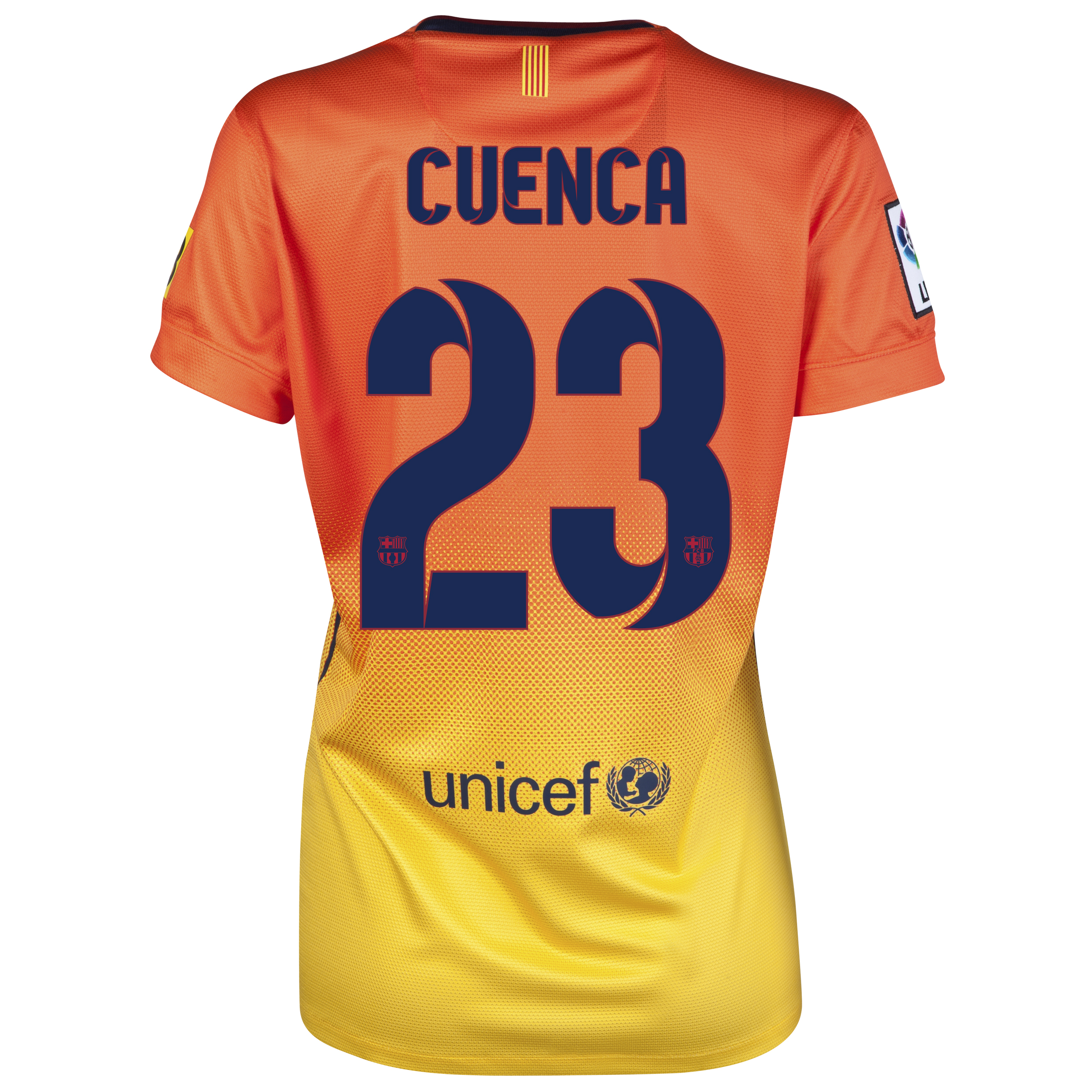 Barcelona Away Shirt 2012/13 -  Womens with Cuenca 23 printing