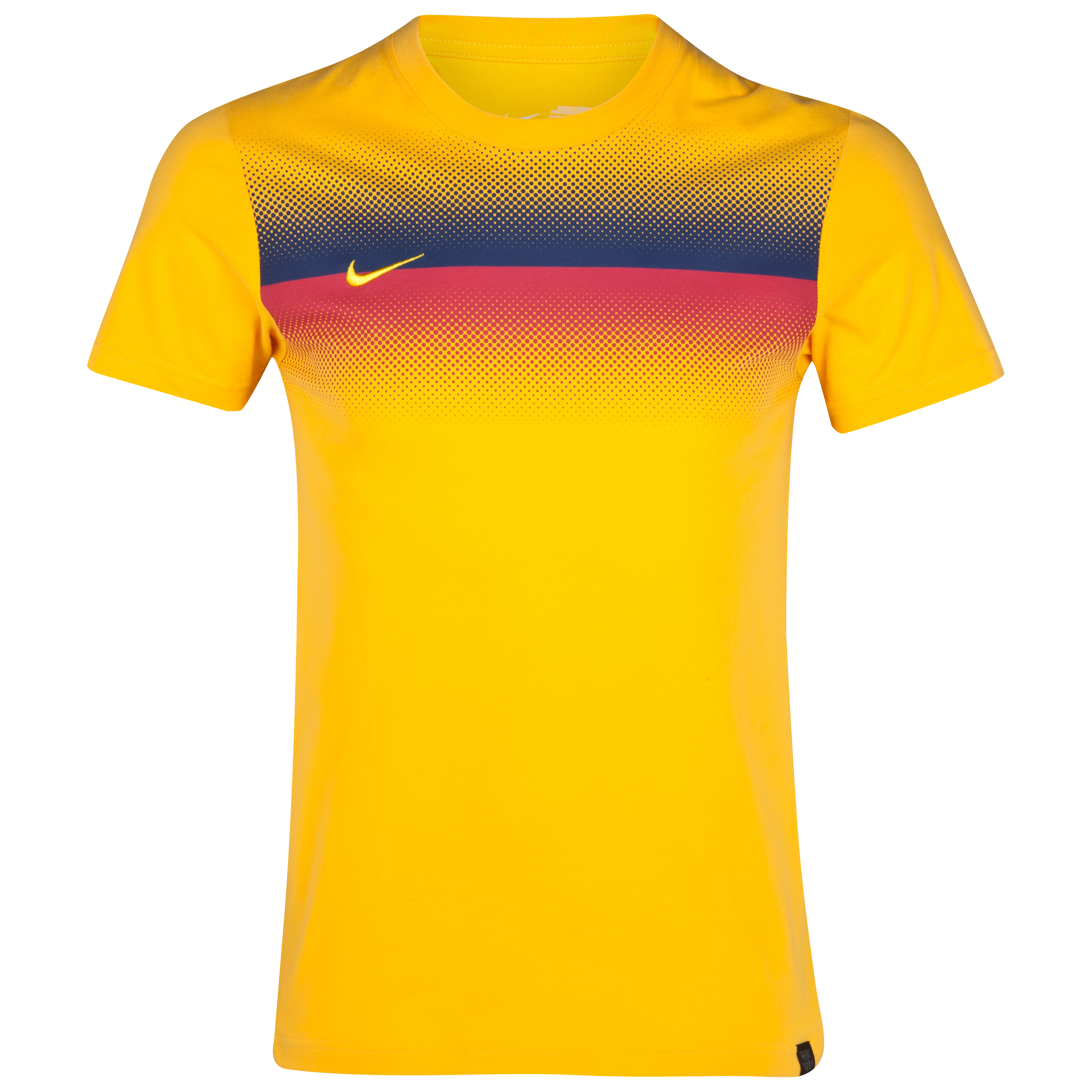 Barcelona Prematch Supporters T-Shirt - University Gold/Tour Yellow