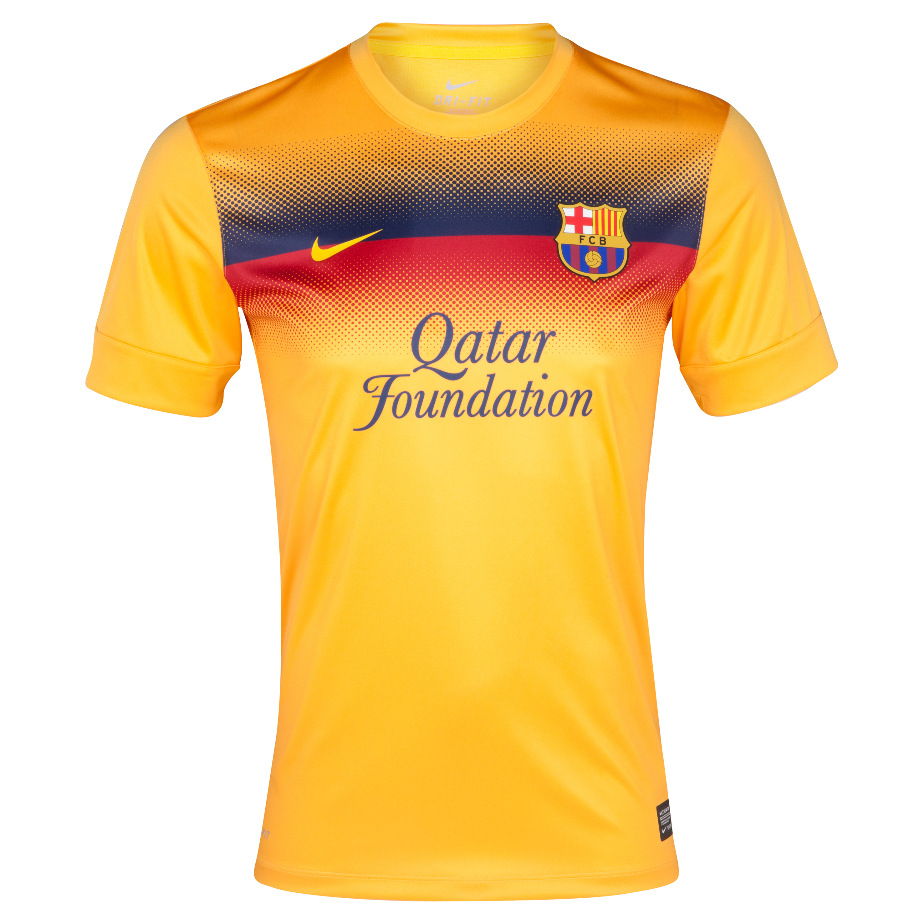 Barcelona Prematch Top II - University Gold/Tour Yellow