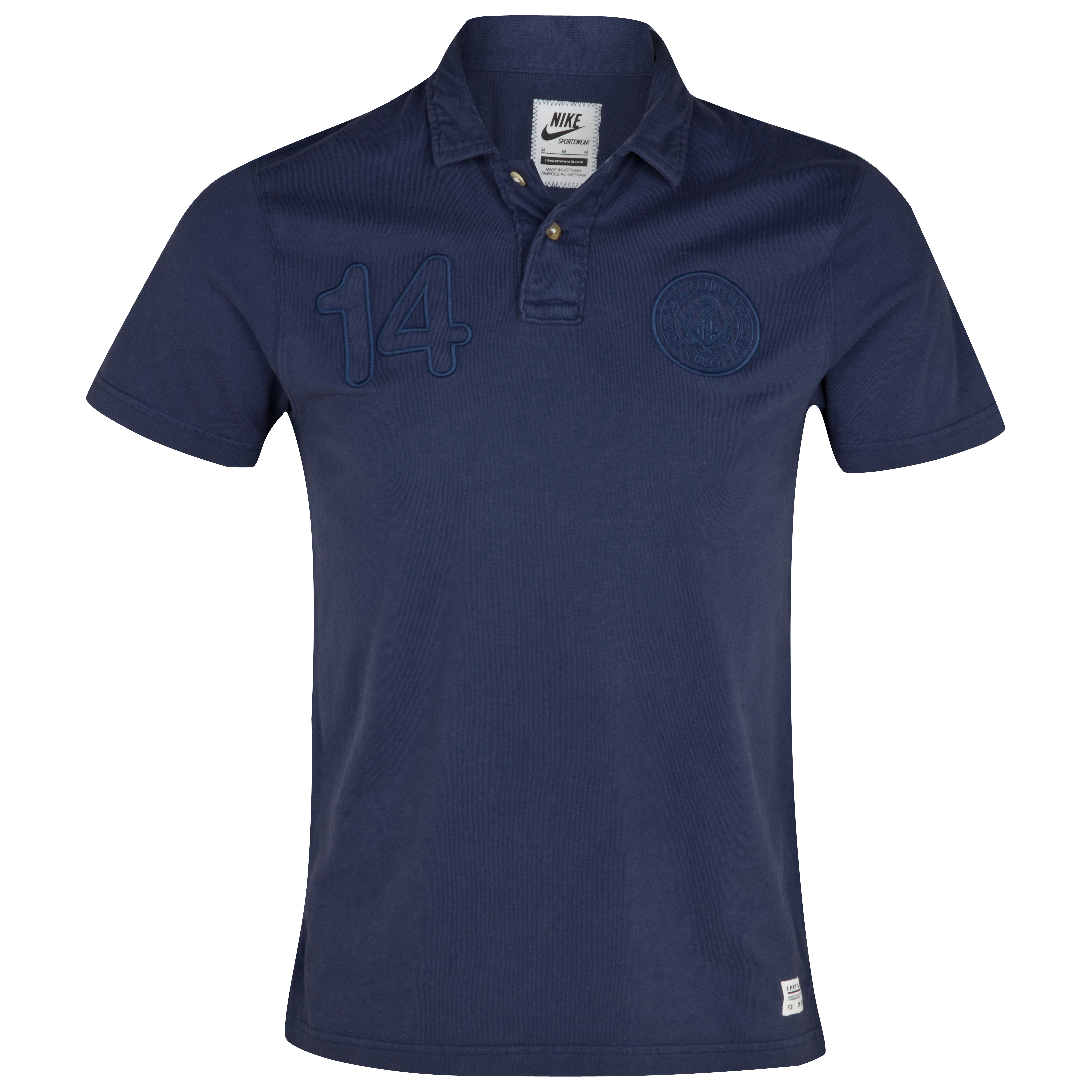 Barcelona Covert Vintage Polo - Midnight Navy