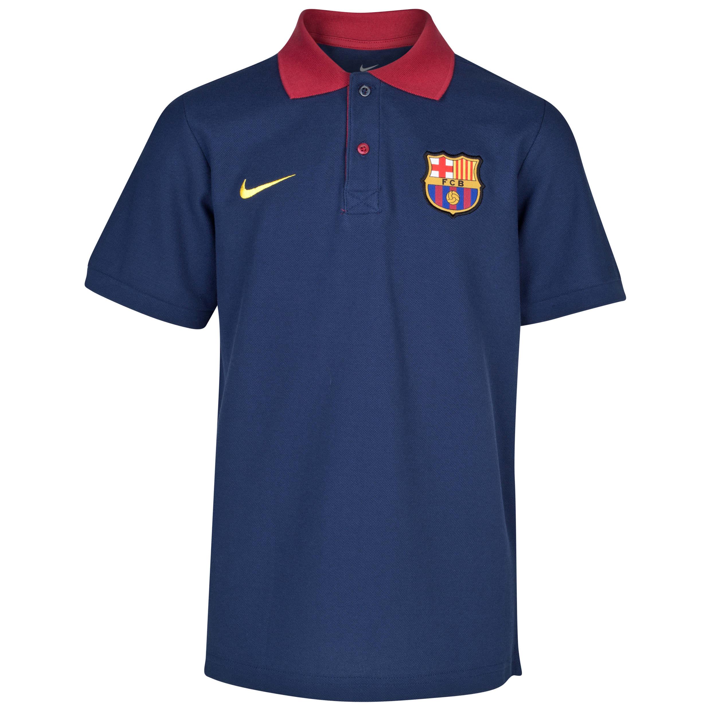Barcelona Core Polo - Midnight Navy/Stormred/Tour Yellow - Youths