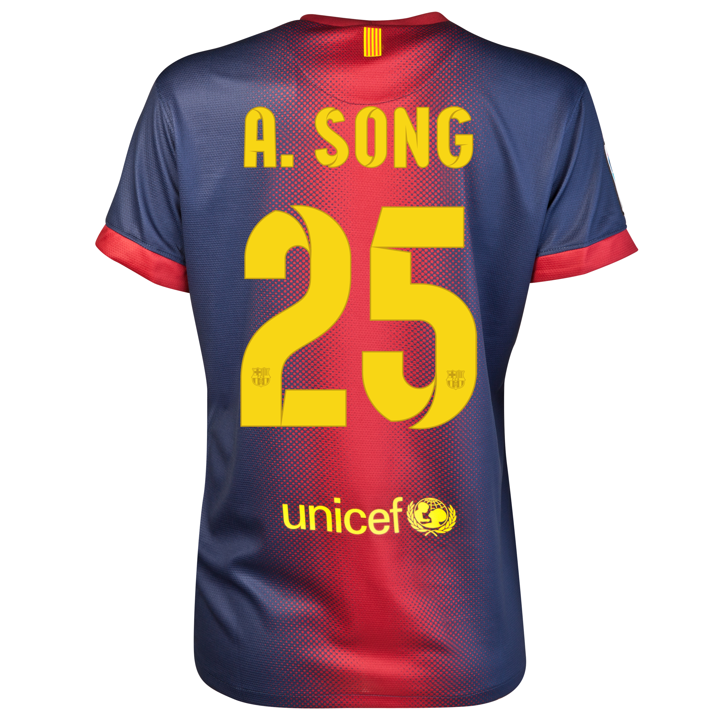 Barcelona Home Shirt 2012/13 - Womens with A.Song 25 printing