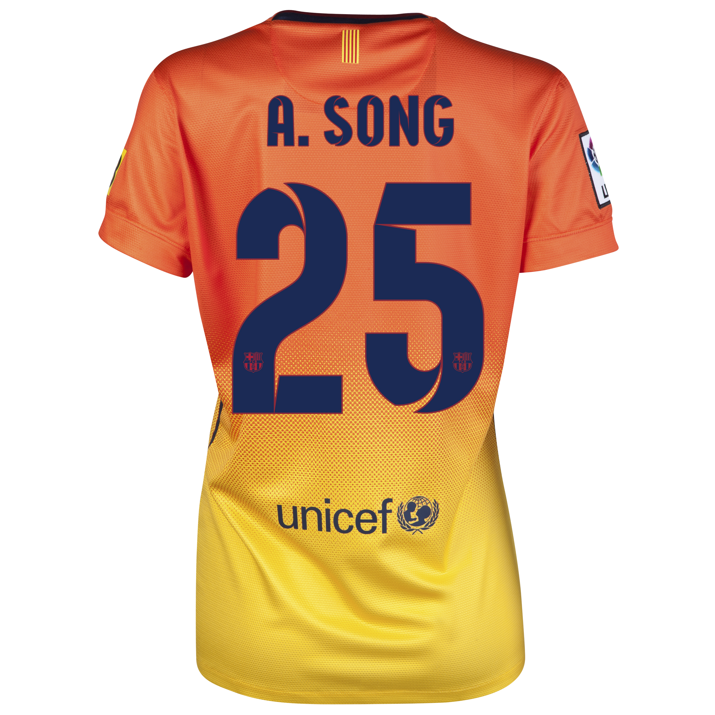 Barcelona Away Shirt 2012/13 -  Womens with A.Song 25 printing