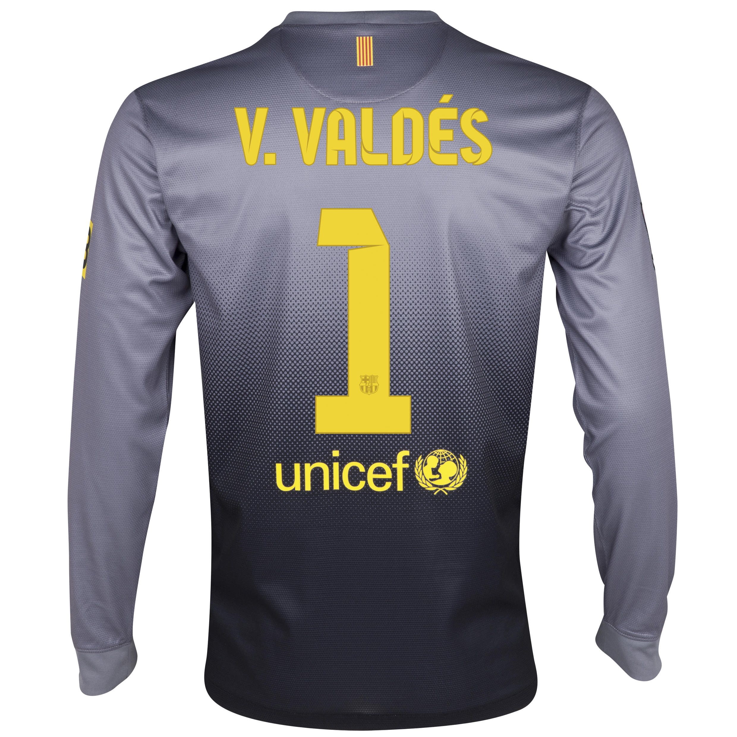 Barcelona Away Goalkeeper Shirt 2012/13 - Kids with V.Valdes 1 printing
