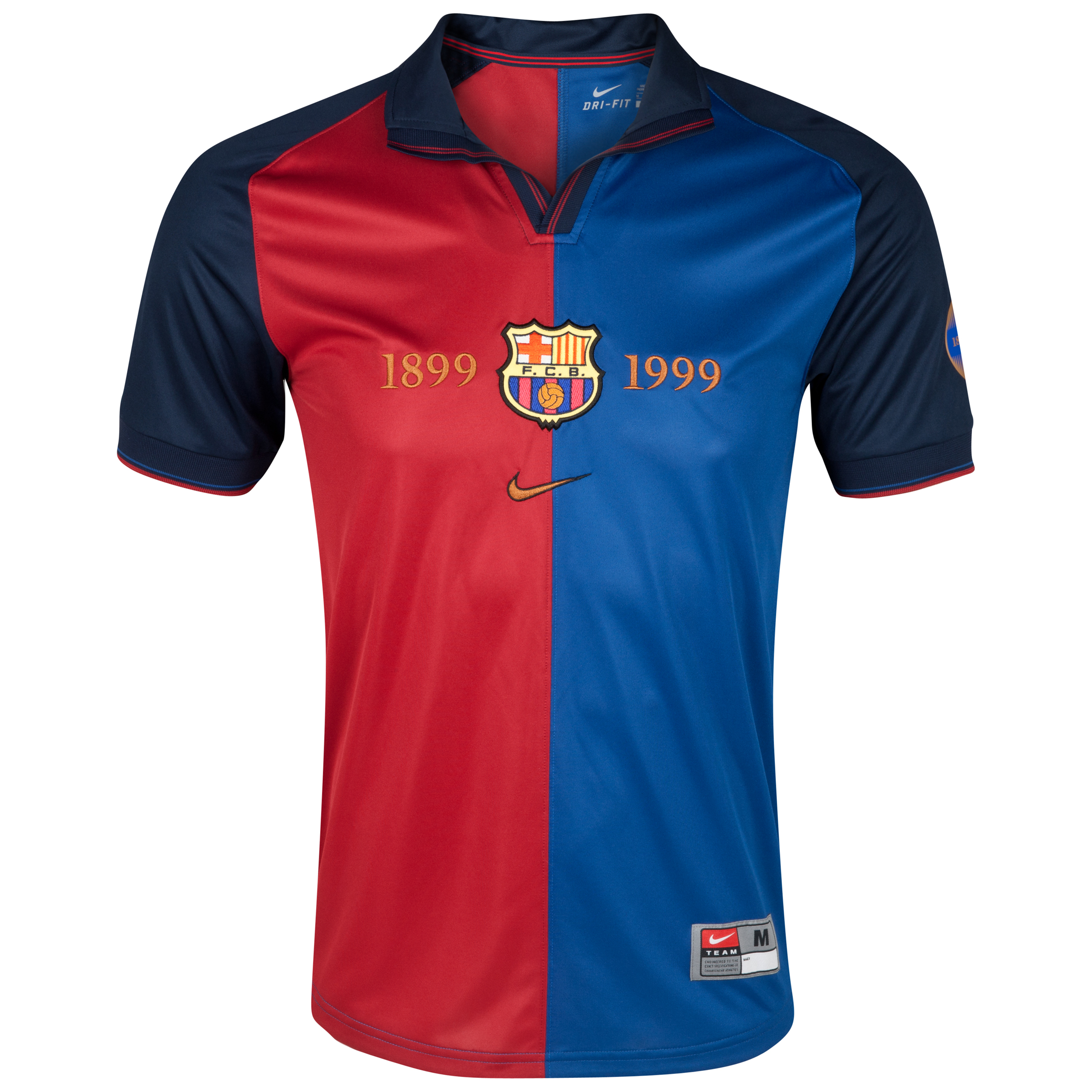 Barcelona Centenial 1999 Shirt - Storm Blue/Storm Red/Metallic Gold