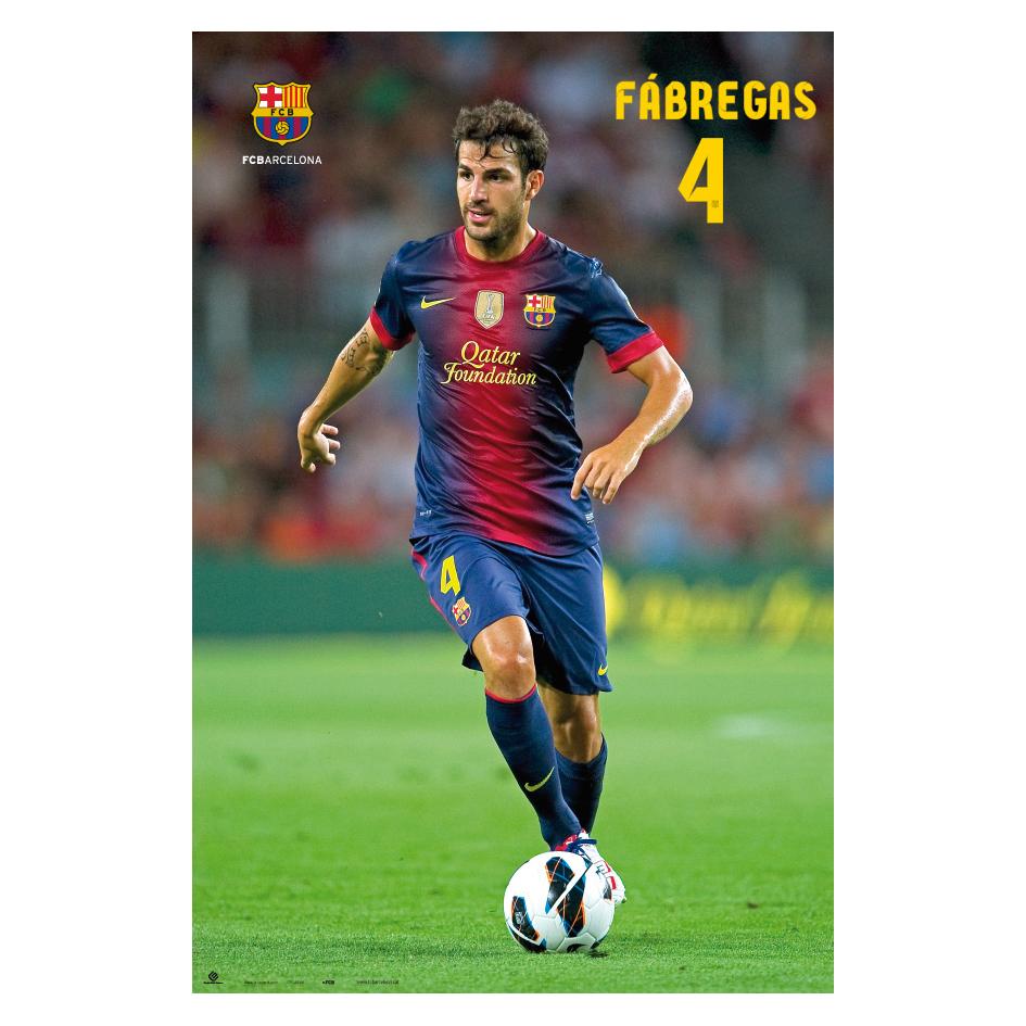 Barcelona 2012/13 Fabregas Poster - 61 x 91.5cm