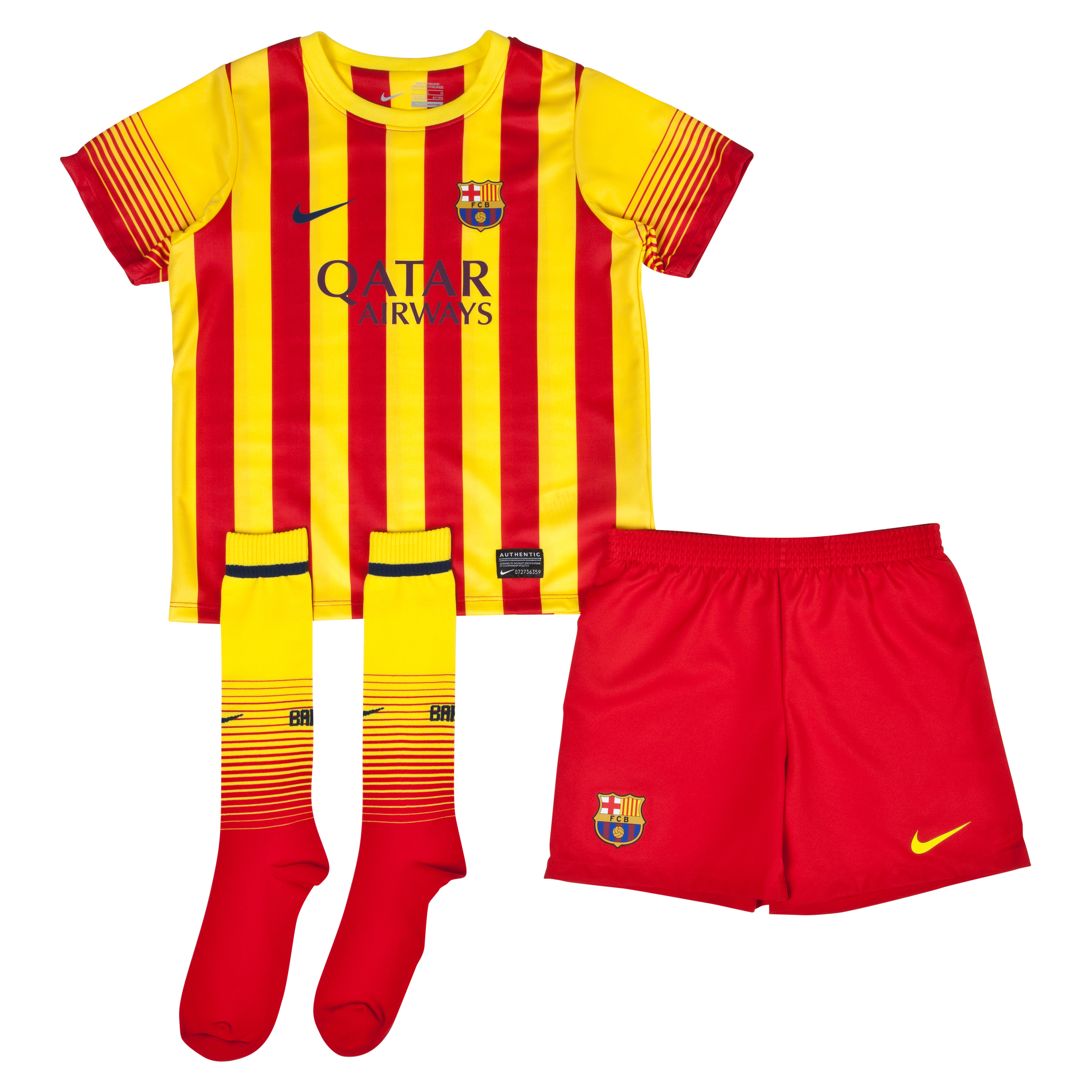 Barcelona Away Kit 2013/14 - Little Boys