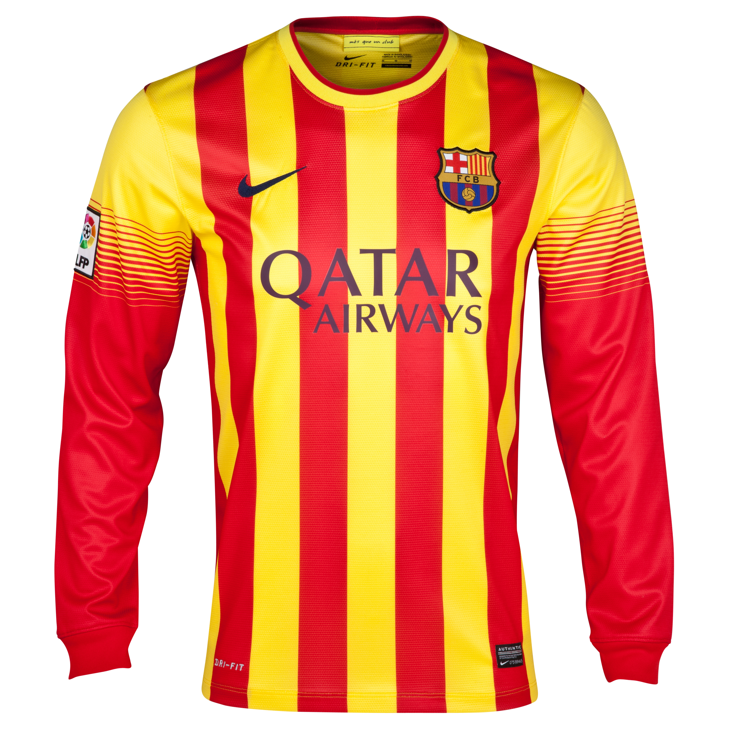 Barcelona Away Shirt 2013/14 - Long Sleeved