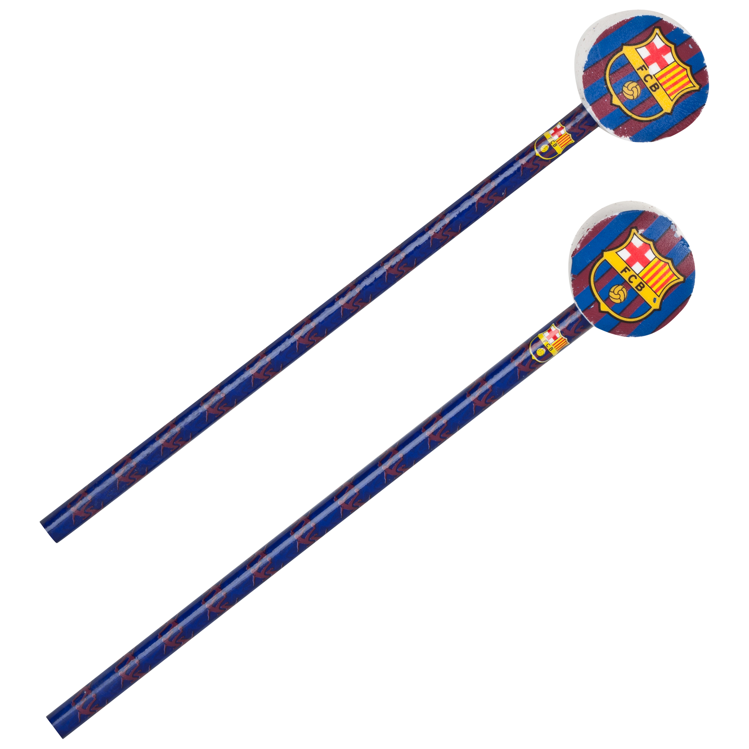 Barcelona Big Logo Pencil with Topper - 2 Pack