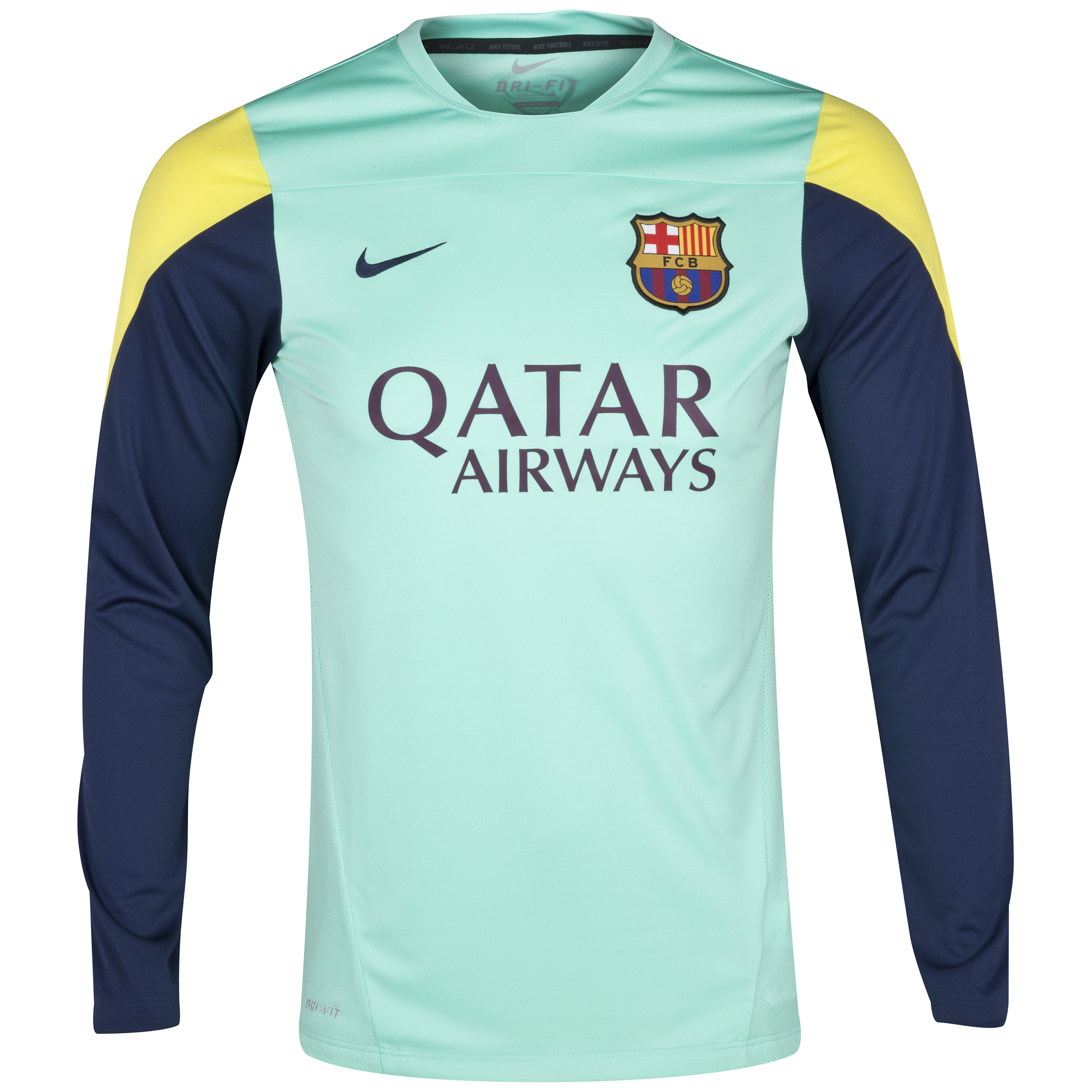 Barcelona Squad Long Sleeve Training Top Green