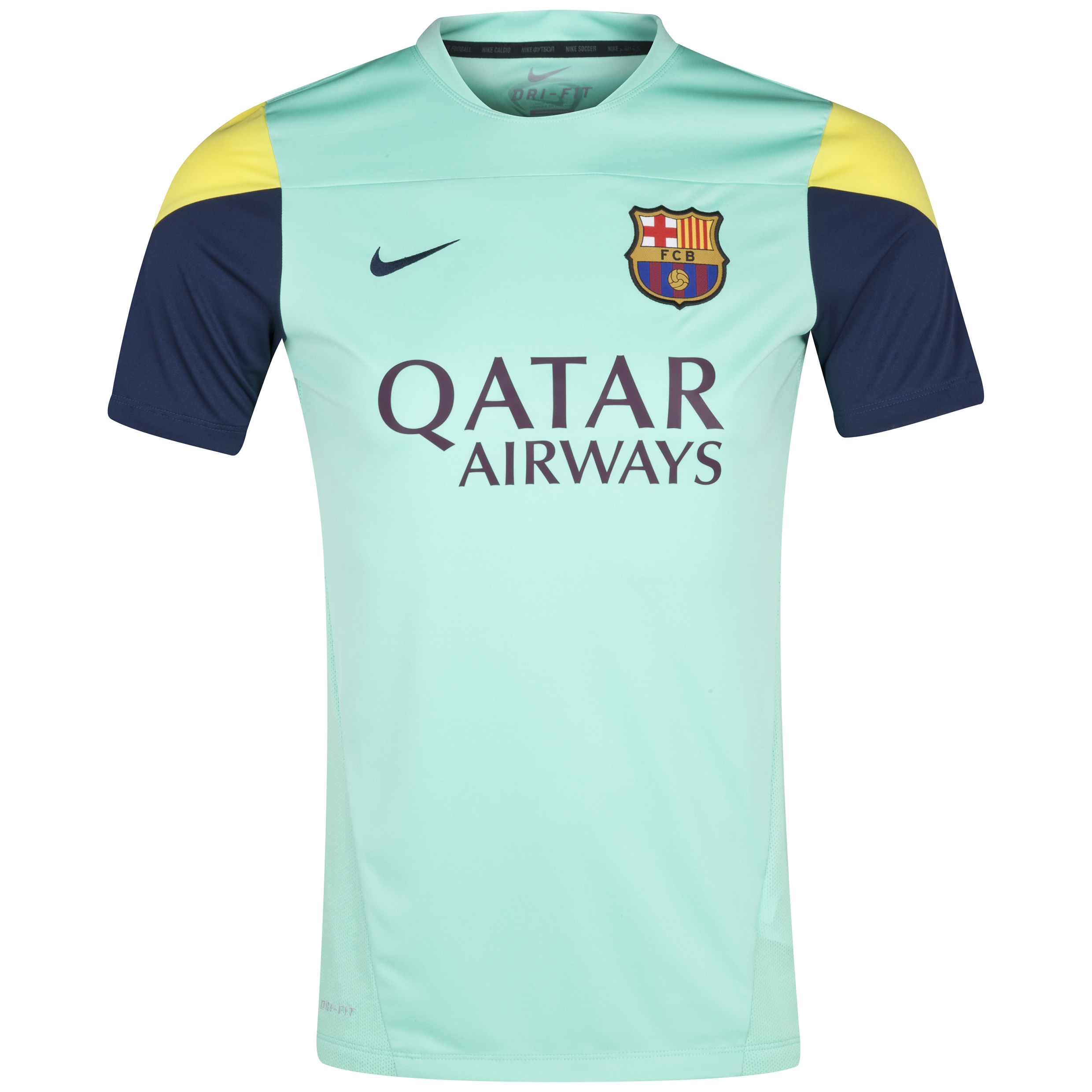 Barcelona Squad SS Training Top Kids Green