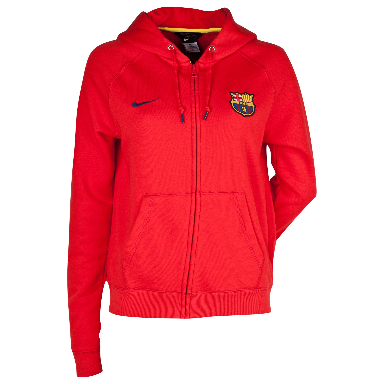 Barcelona Authentic Full Zip Hoody - Womens Red