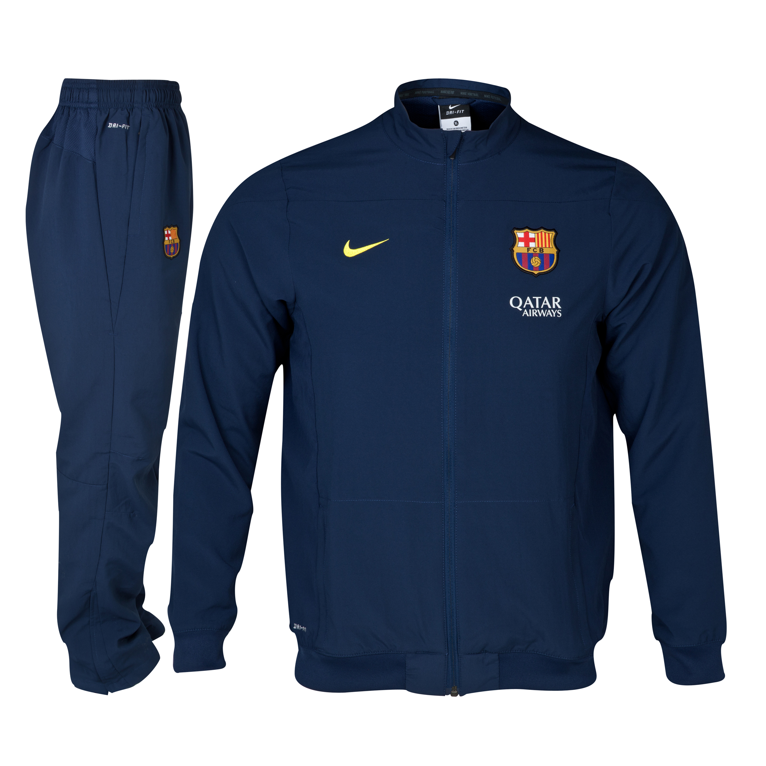 Barcelona Squad Sideline Woven Warm Up Tracksuit - Kids Navy