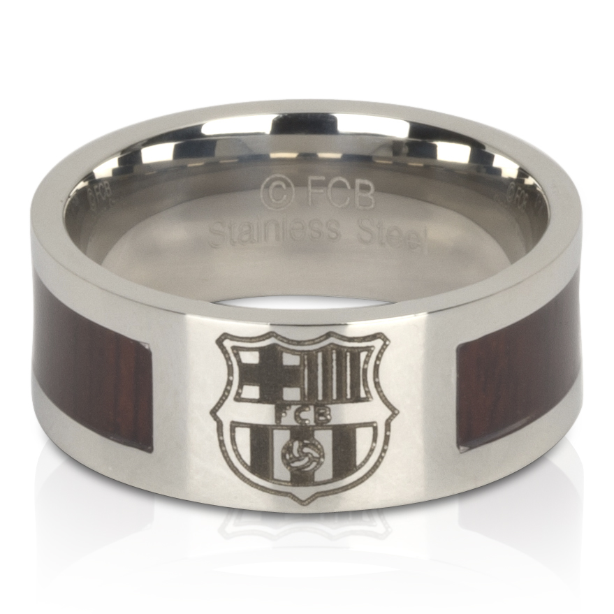 Barcelona Crest Band Ring - Stainless Steel