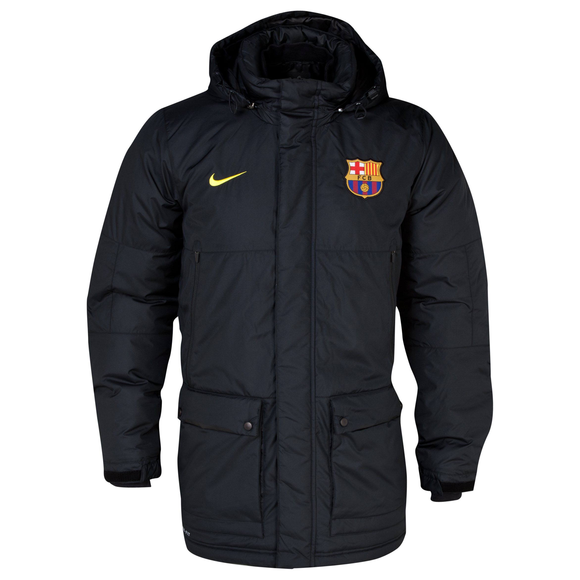 Barcelona Squad Medium Fill Jacket - Black/Vibrant Yellow Black