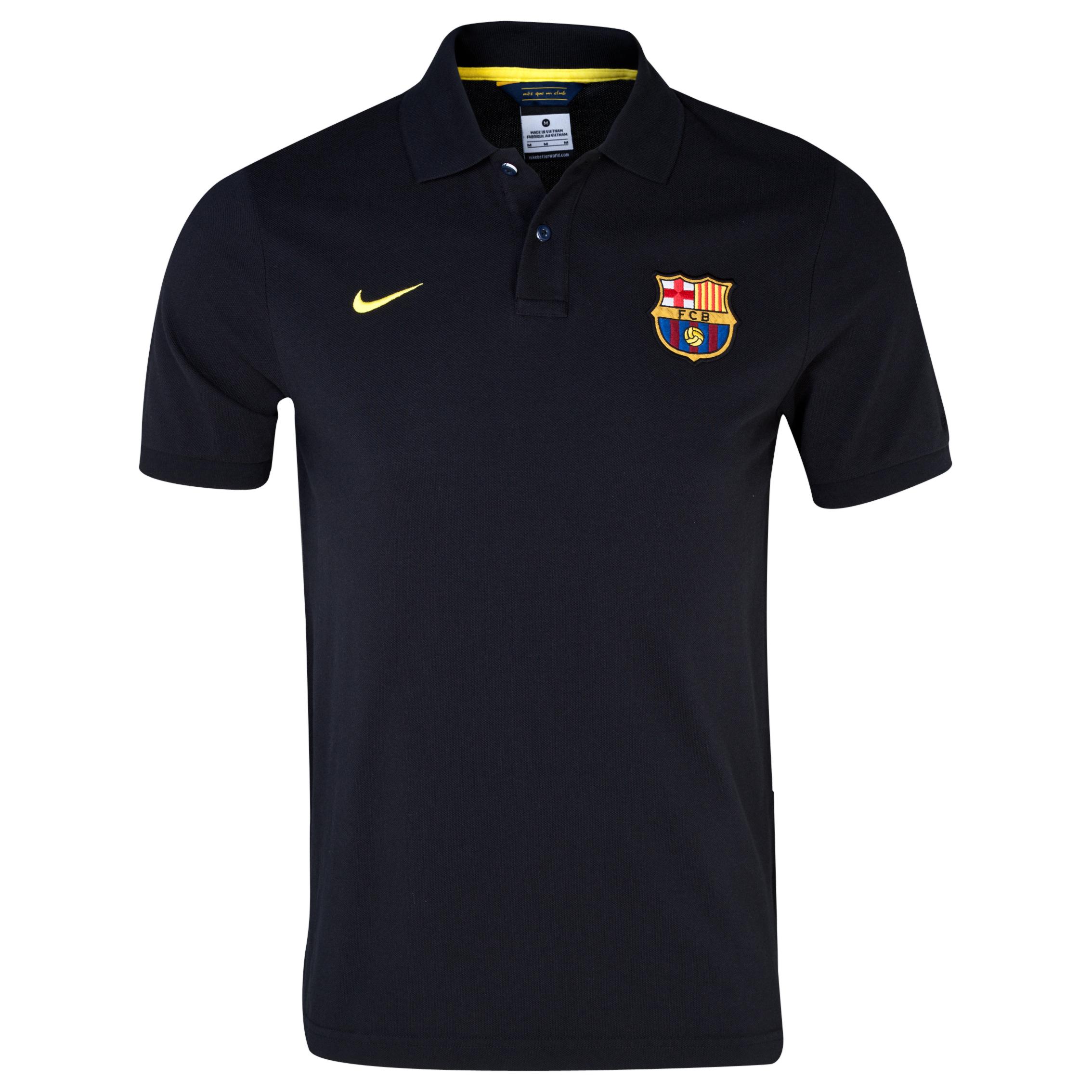 Barcelona Authentic Grand Slam Polo - Black/Vibrant Yellow Black
