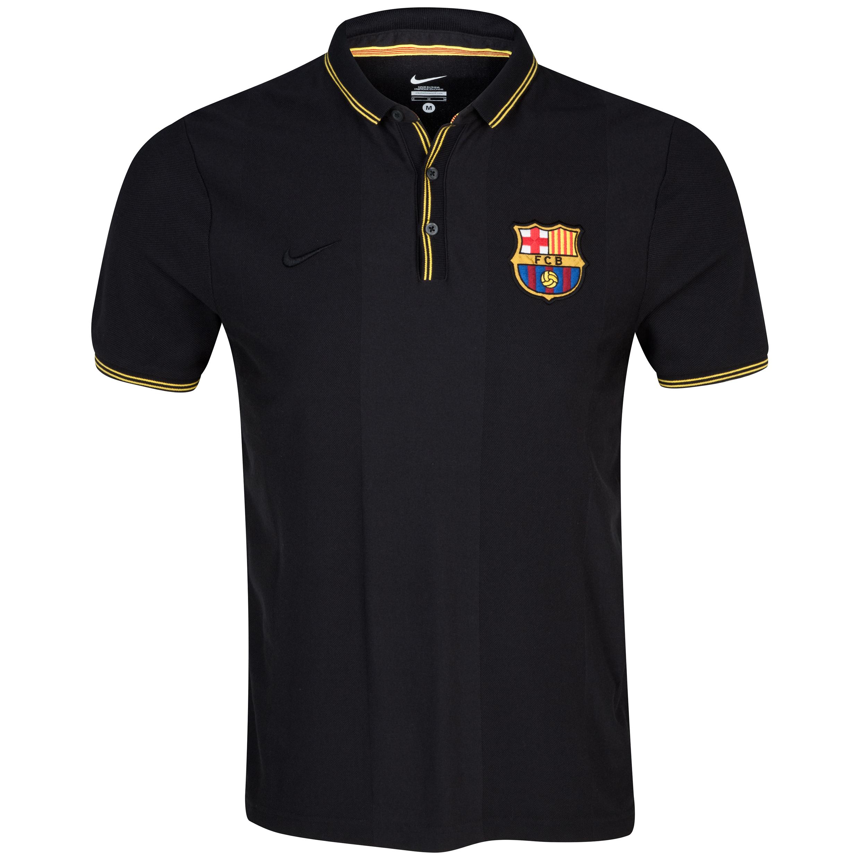 Barcelona Authentic Slim Collar Polo Black