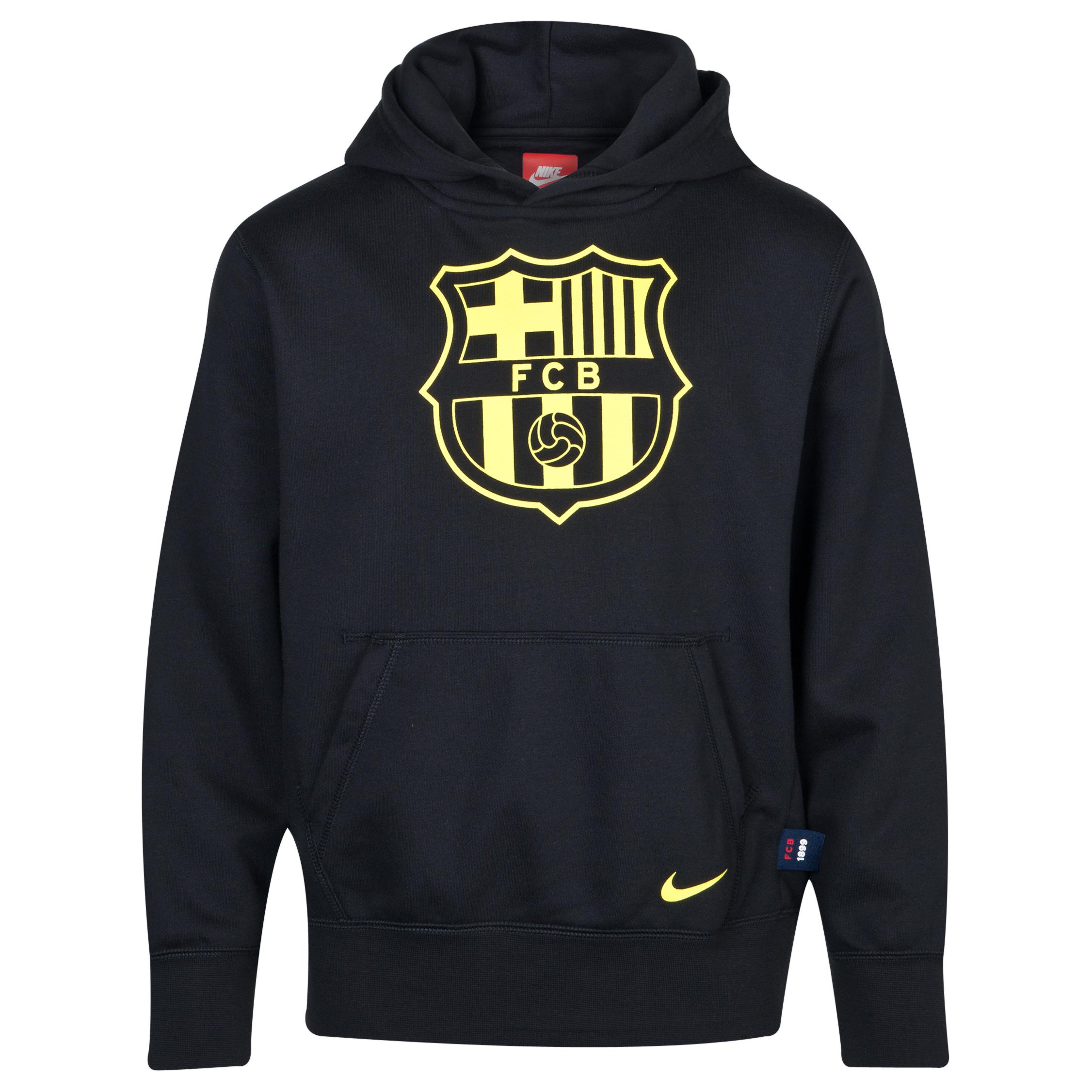 Barcelona OTH Hoody - Black/Vibrant Yellow - Kids Black