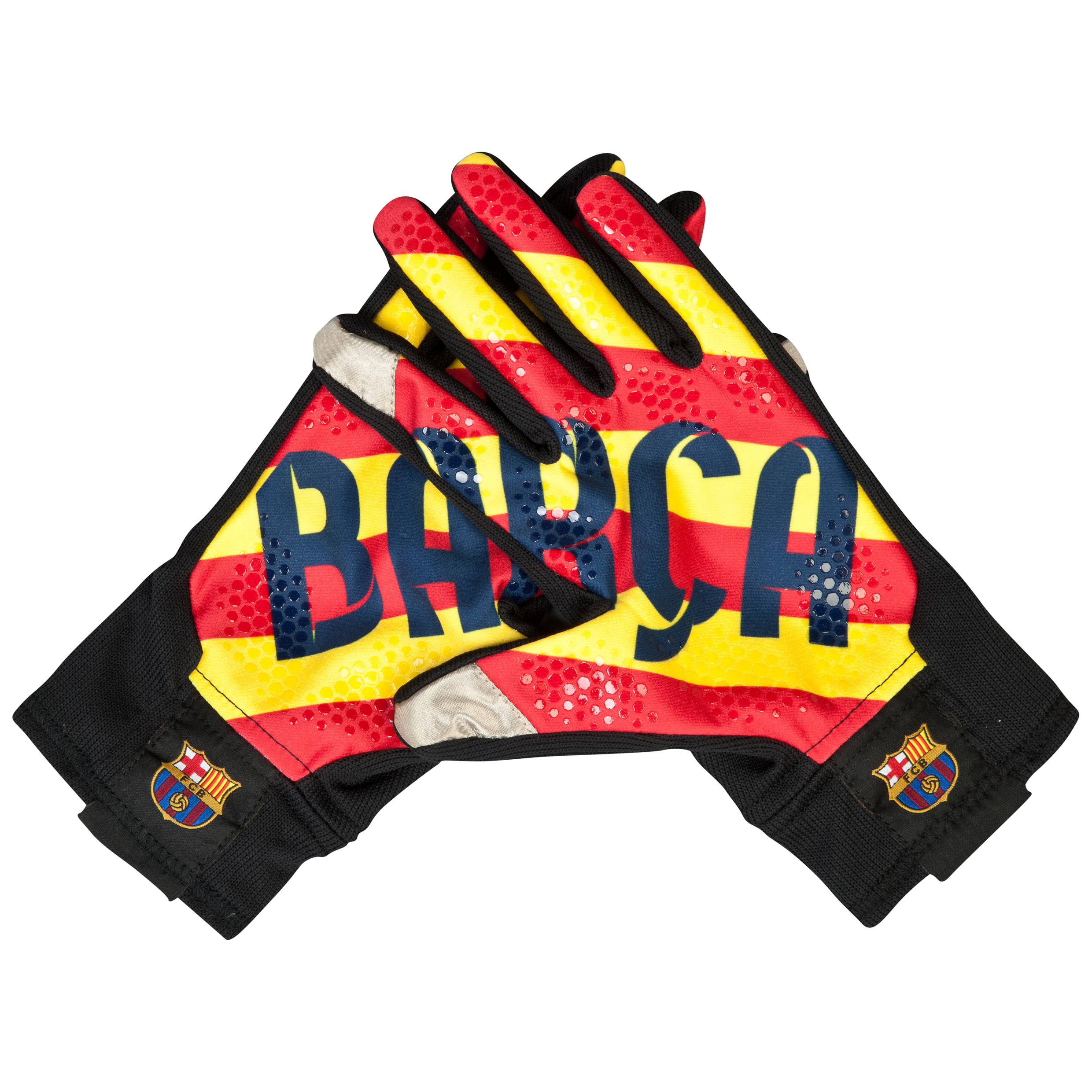Barcelona Fan Glove - Black/Red/Yellow Black