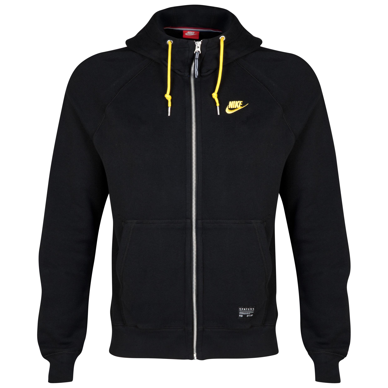 Barcelona Covert AW77 Full Zip Hoody - Black/Tour Yellow Black