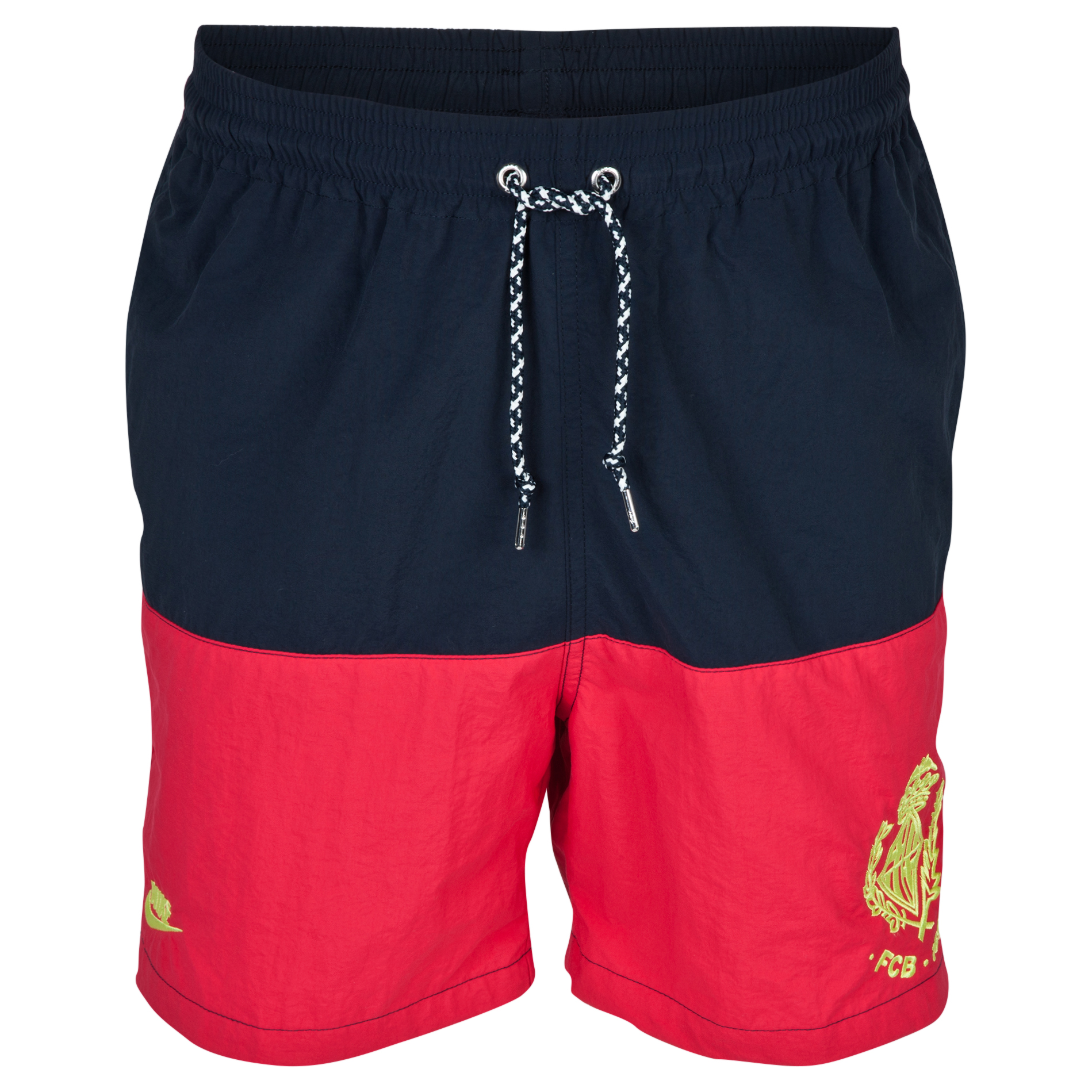 Barcelona Covert Team Shorts - Dark Obsidian/Legion Red/Venom Green Dk Blue