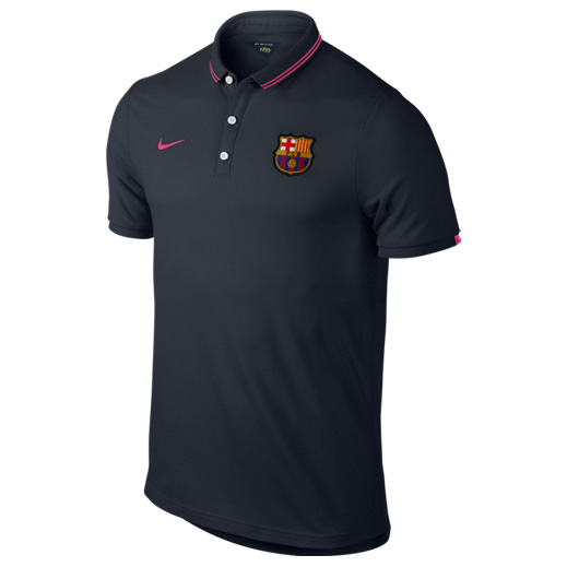 Barcelona League Authentic Polo Navy