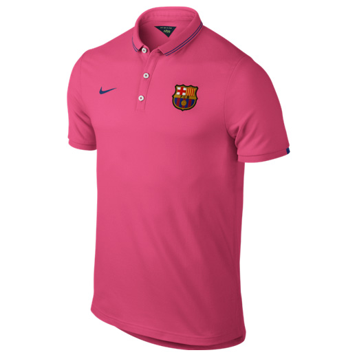 Barcelona League Authentic Polo Pink