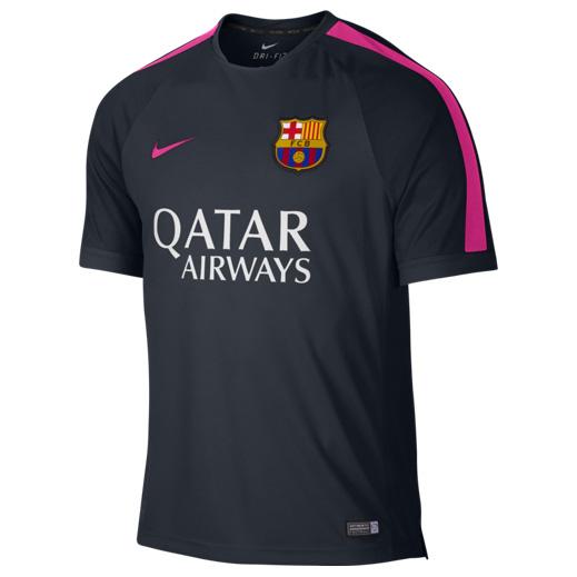 Barcelona Squad Short Sleeve Training Top Navy
