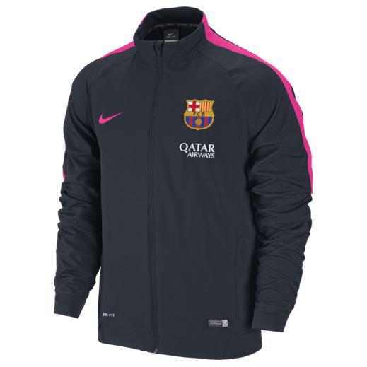 Barcelona Squad Sideline Woven Jacket Navy