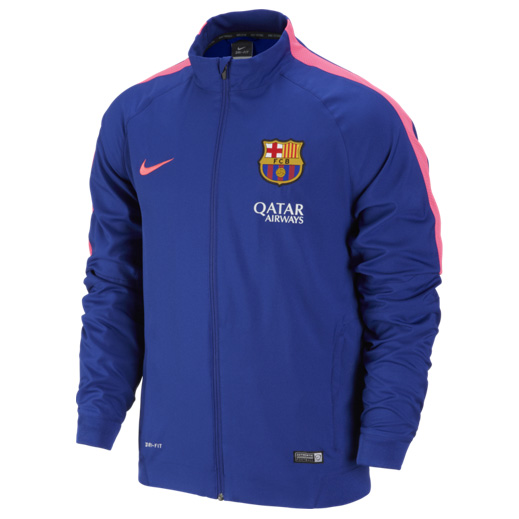 Barcelona Squad Sideline Woven Jacket Royal Blue